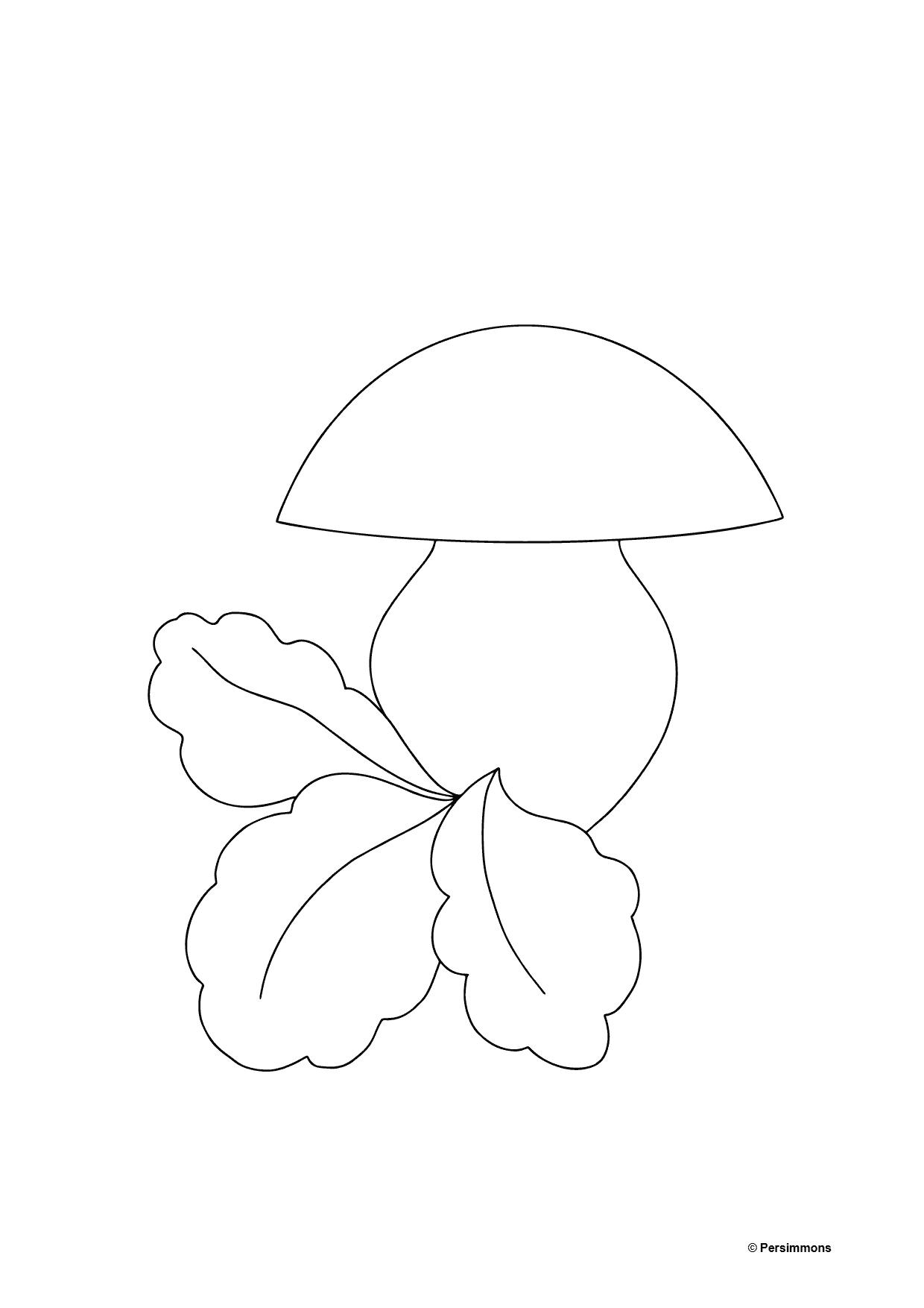 Autumn Coloring Page - Mushroom Season for Kids