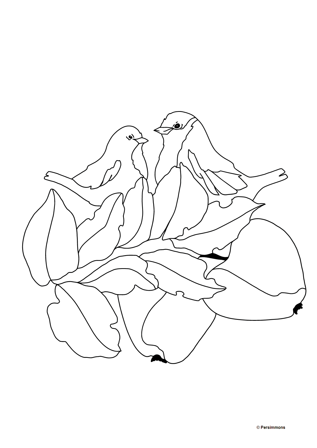 Autumn Coloring Page - Ripe Apples for Kids