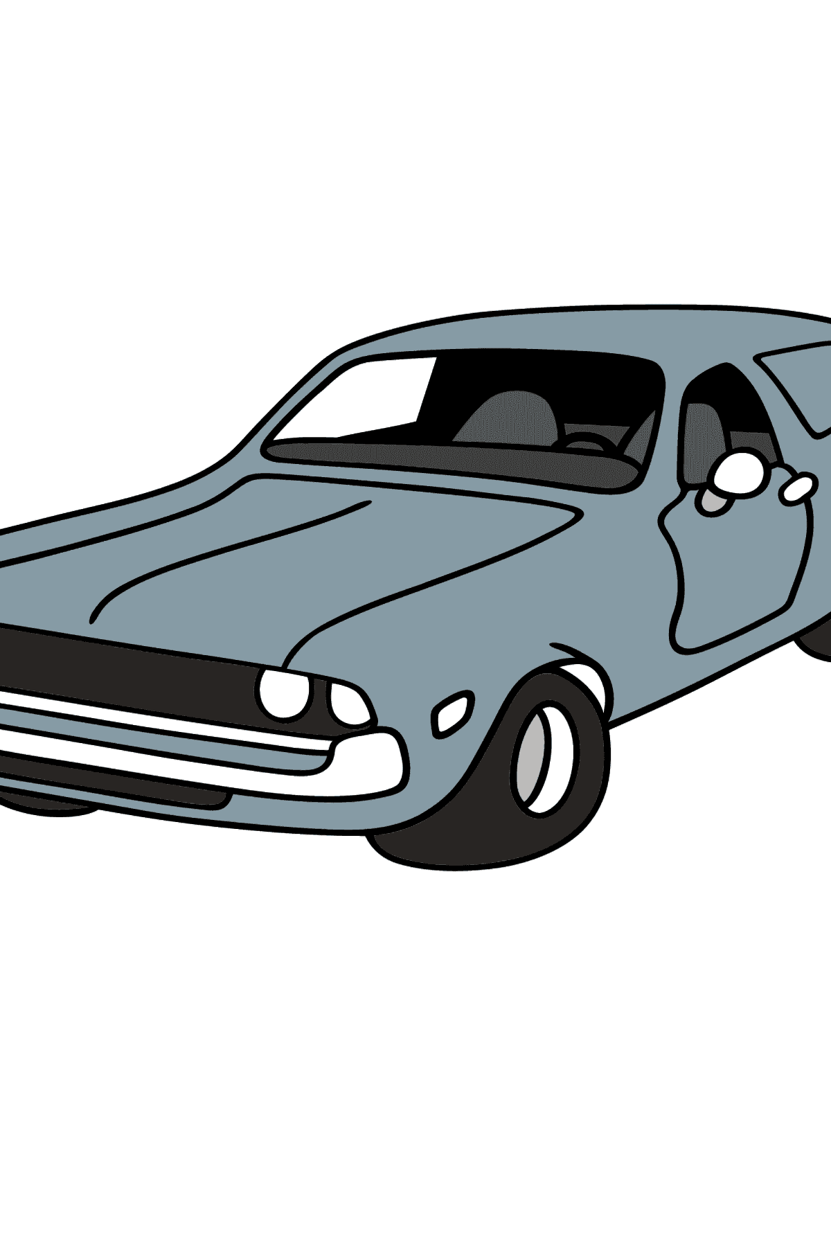Chevrolet gray car coloring page - Coloring Pages for Kids