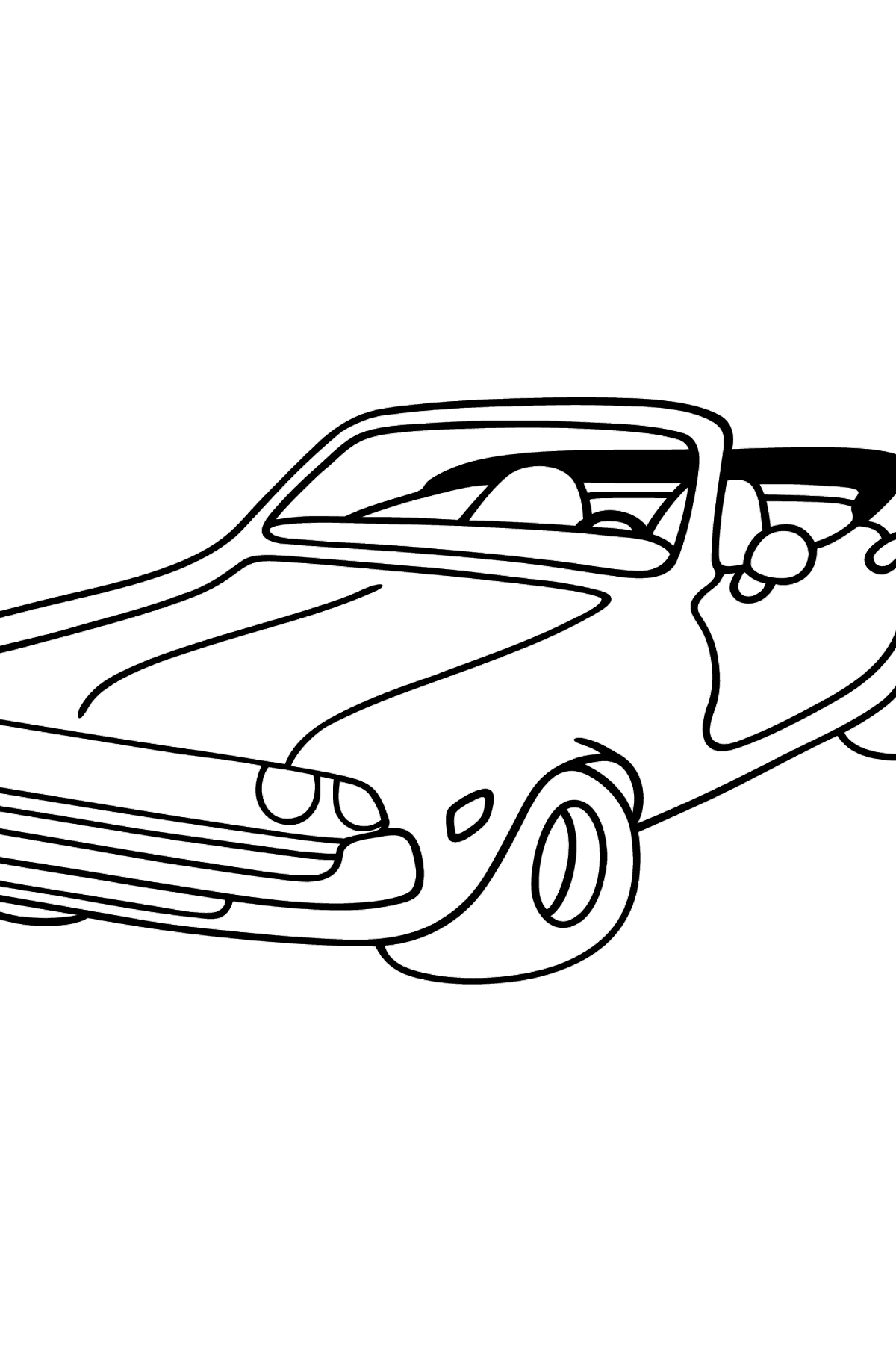 Open Top Cars coloring page - Coloring Pages for Kids