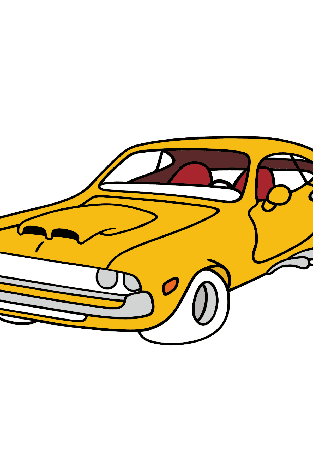 Chevrolet-Chevy Sports Car coloring page - Coloring Pages for Kids