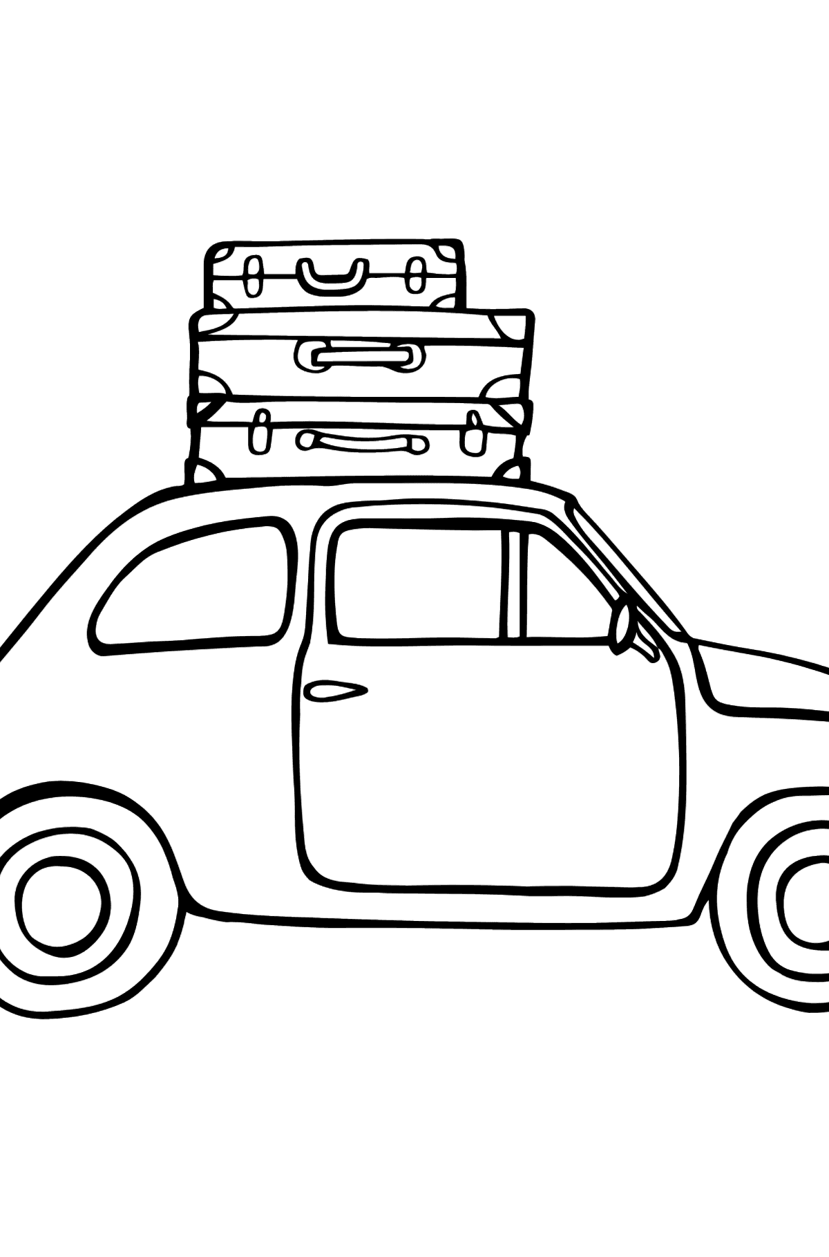 Fiat 600 car coloring page - Coloring Pages for Kids