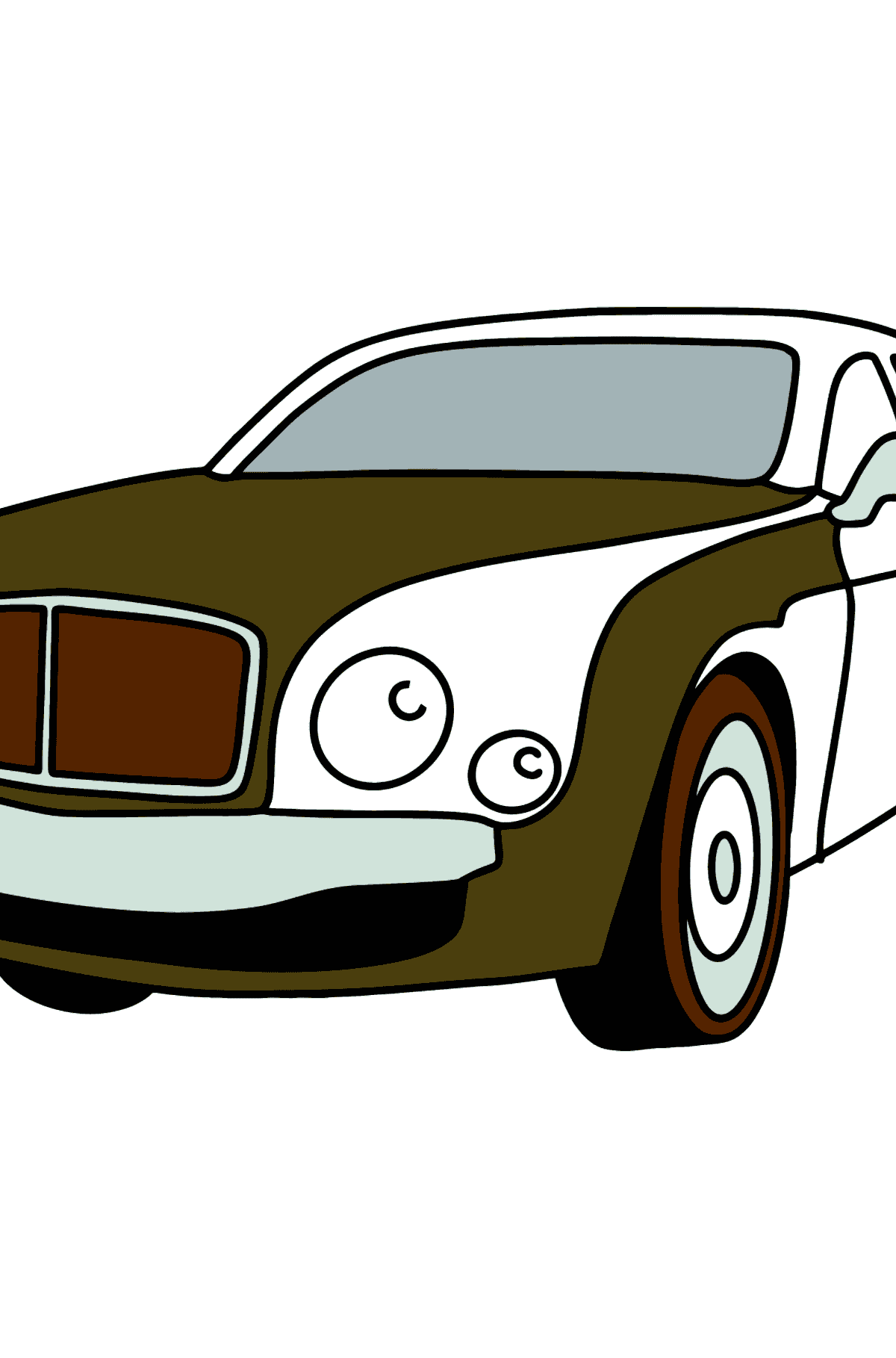 Bentley Car Coloring Page - Coloring Pages for Kids