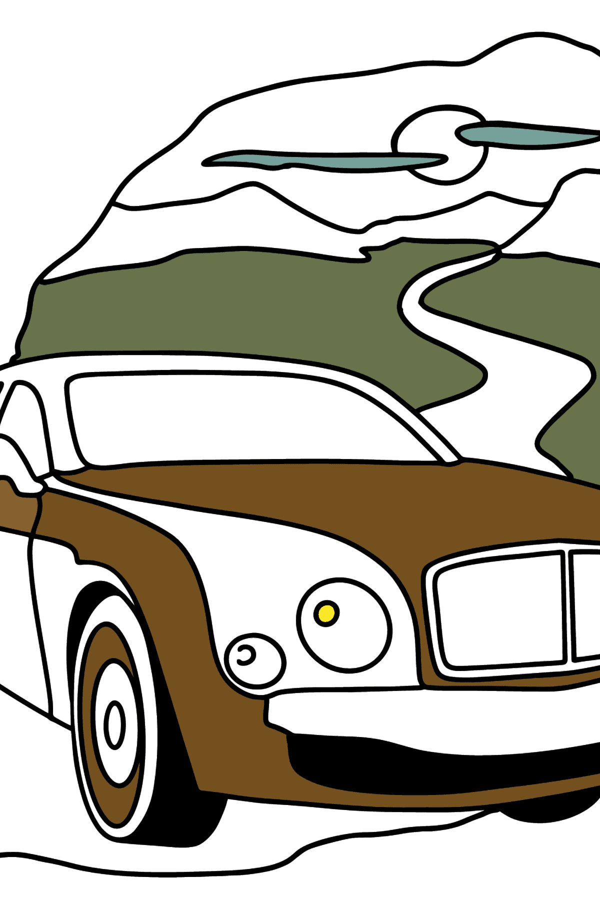 Bentley Mulsanne Car coloring page - Coloring Pages for Kids