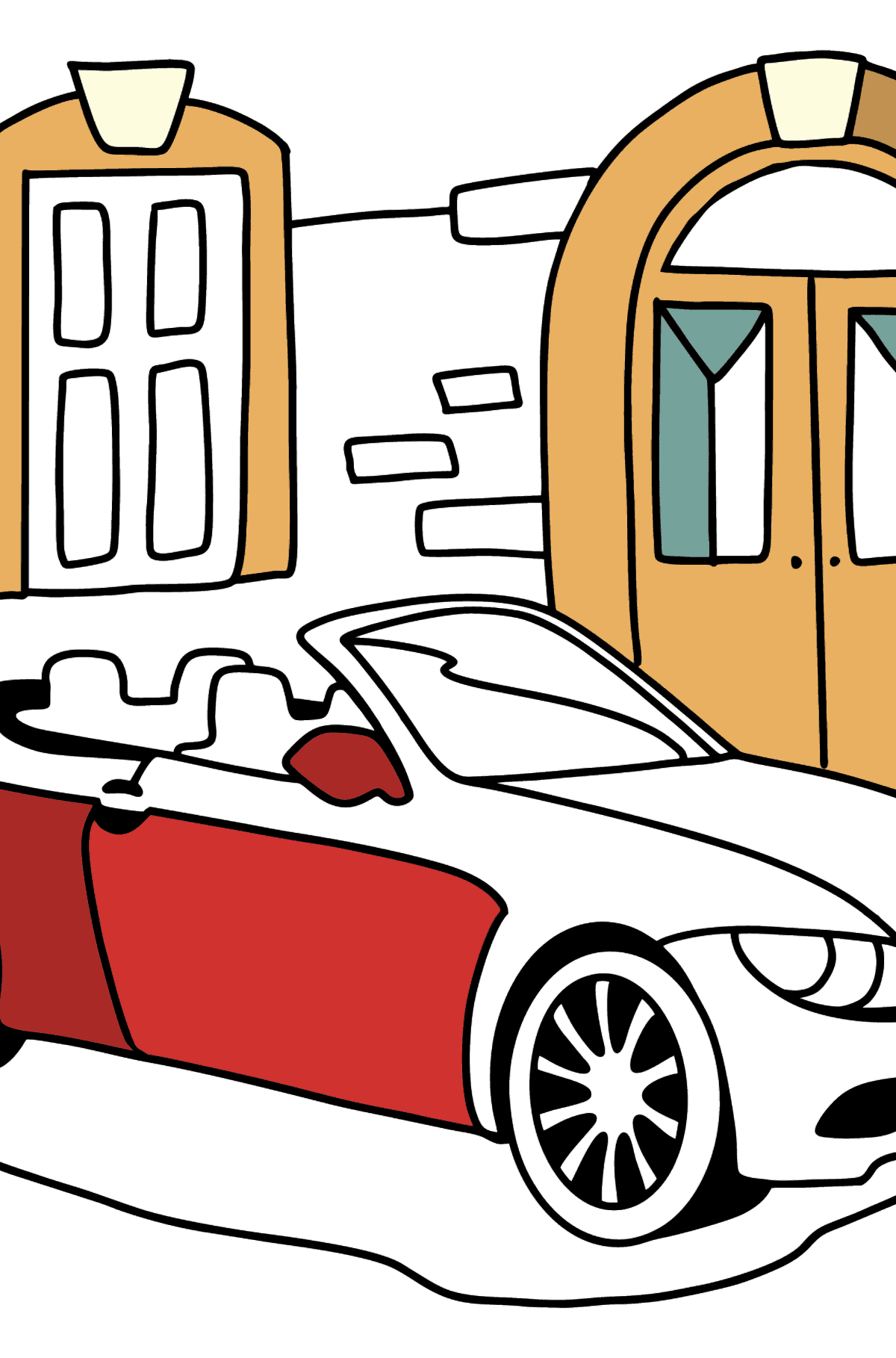 BMW Convertible coloring page - Coloring Pages for Kids