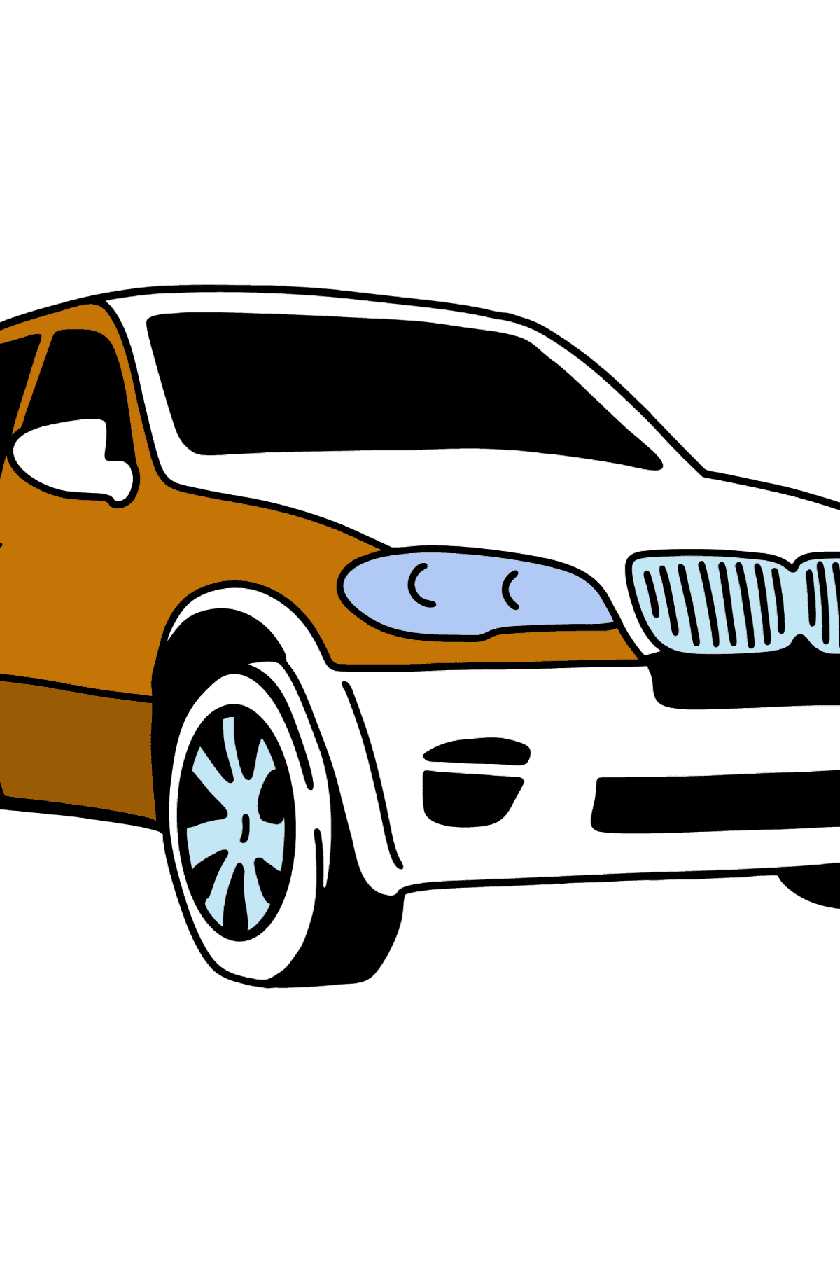 BMW X6 Crossover coloring page - Coloring Pages for Kids