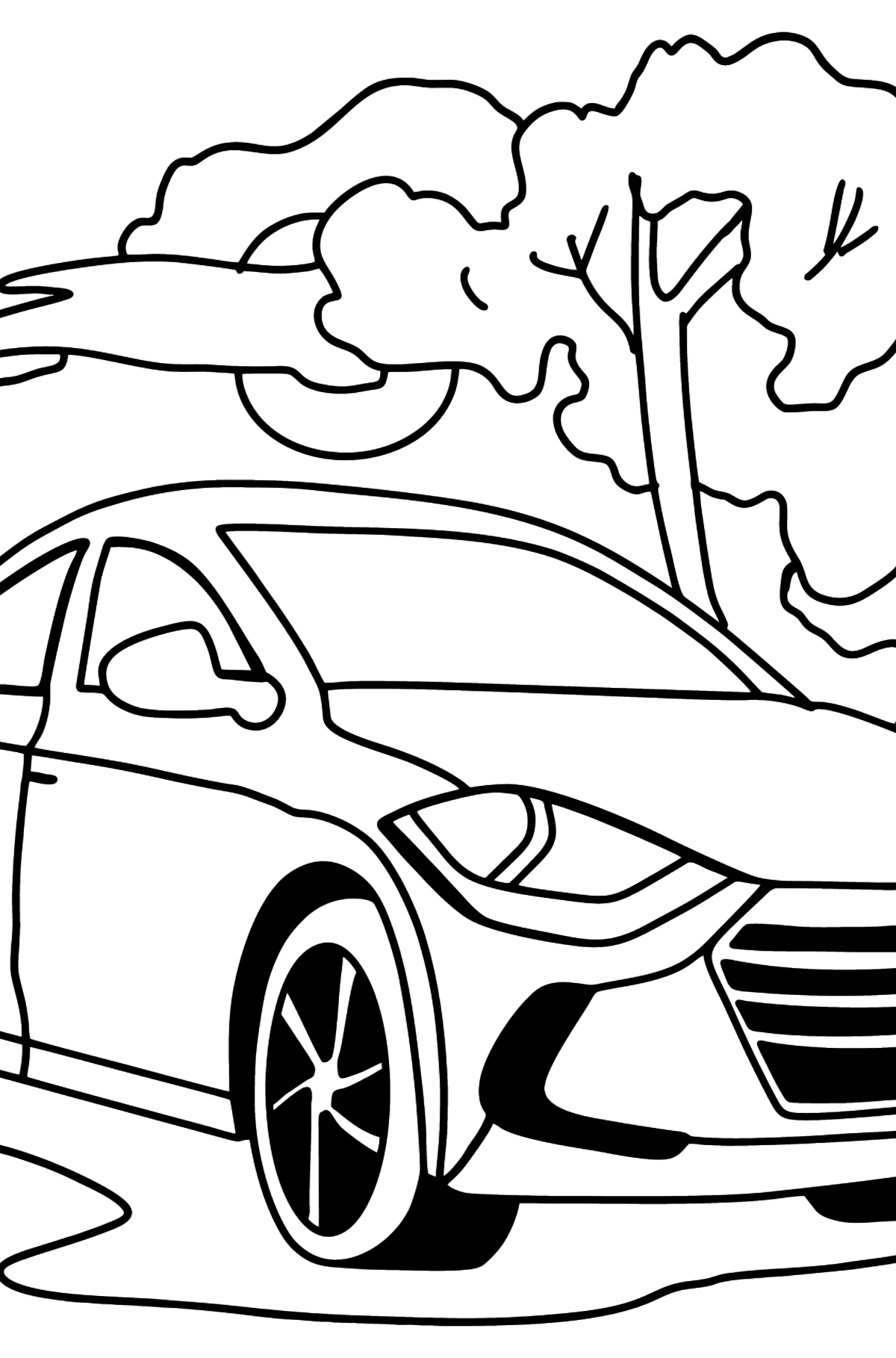Hyundai car coloring page - Coloring Pages for Kids