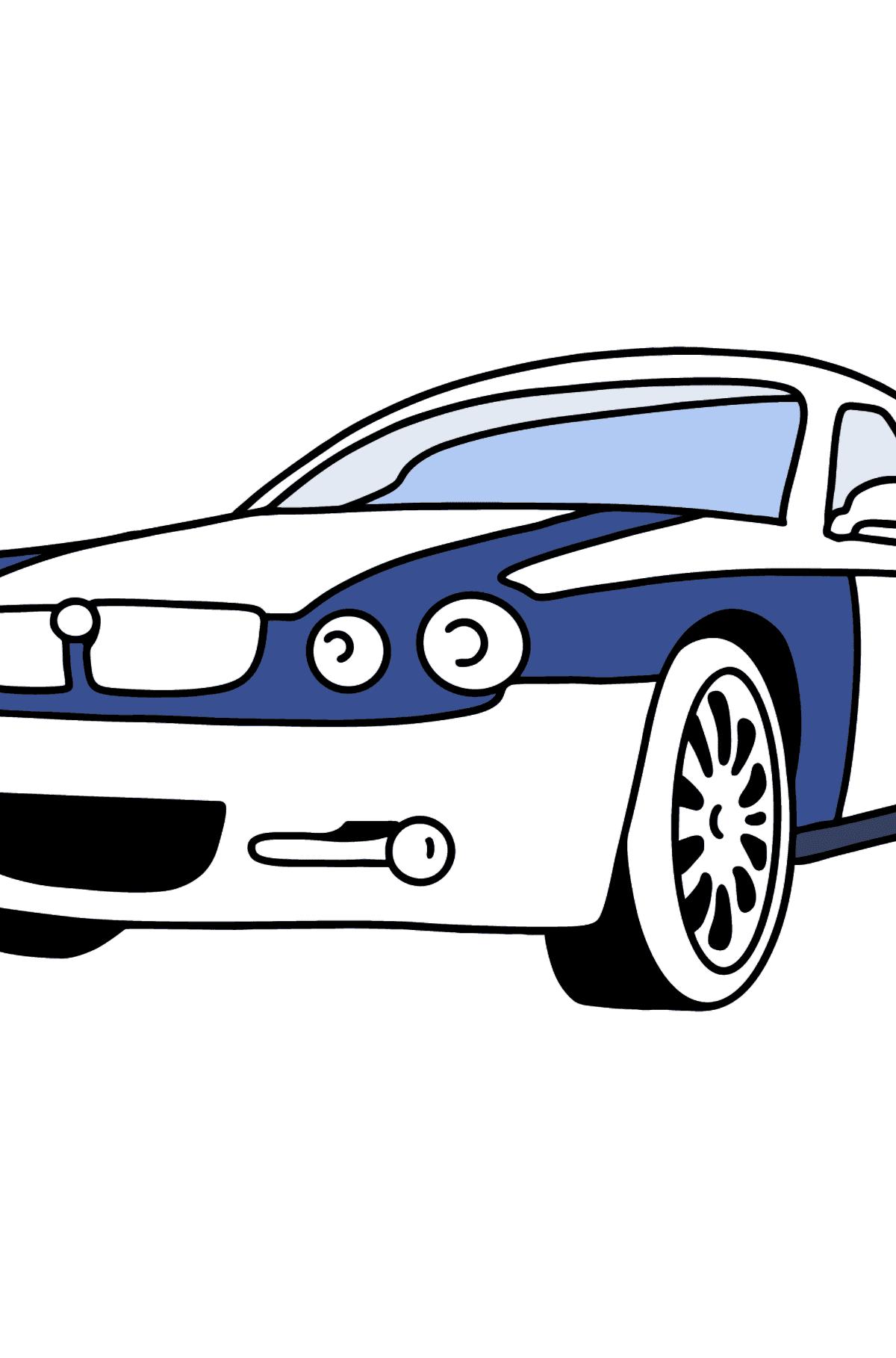 Jaguar GT coloring page - Coloring Pages for Kids