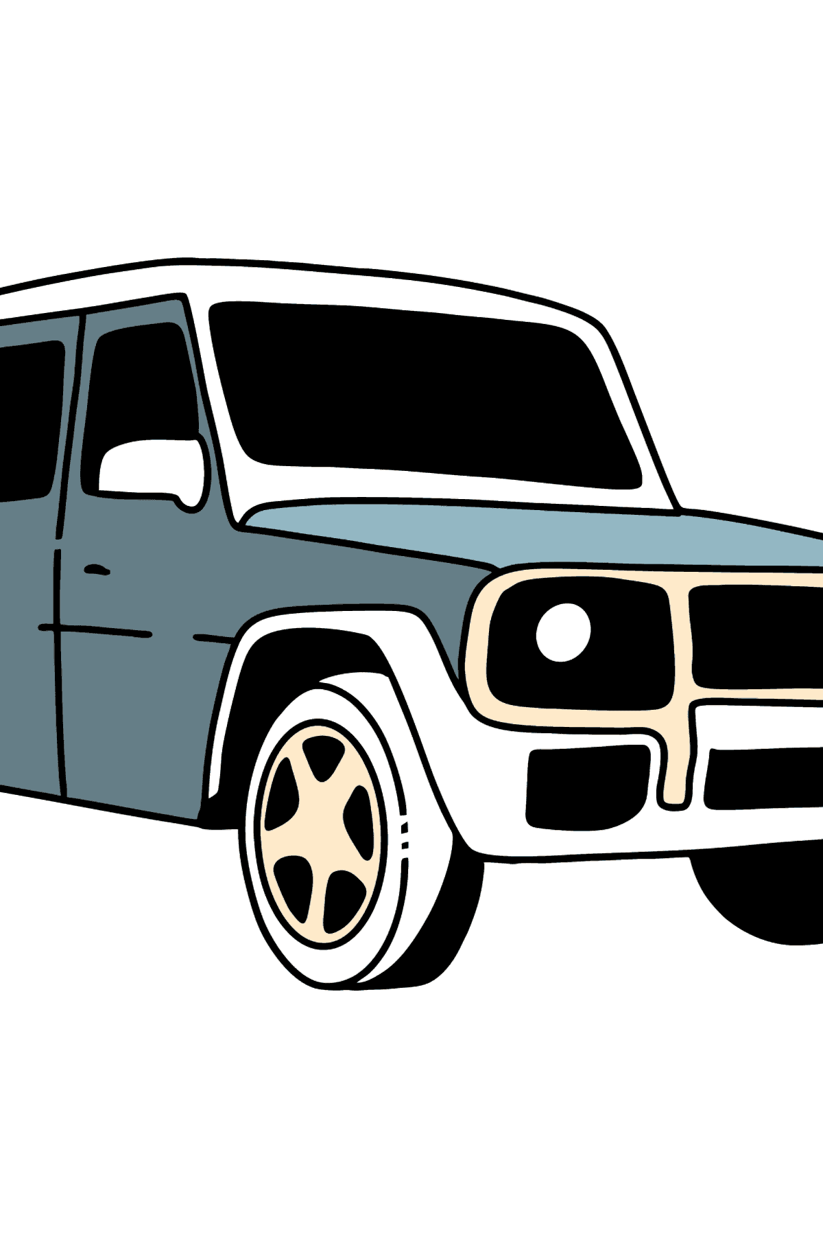 Mercedes-Benz G-Class SUV coloring page - Coloring Pages for Kids
