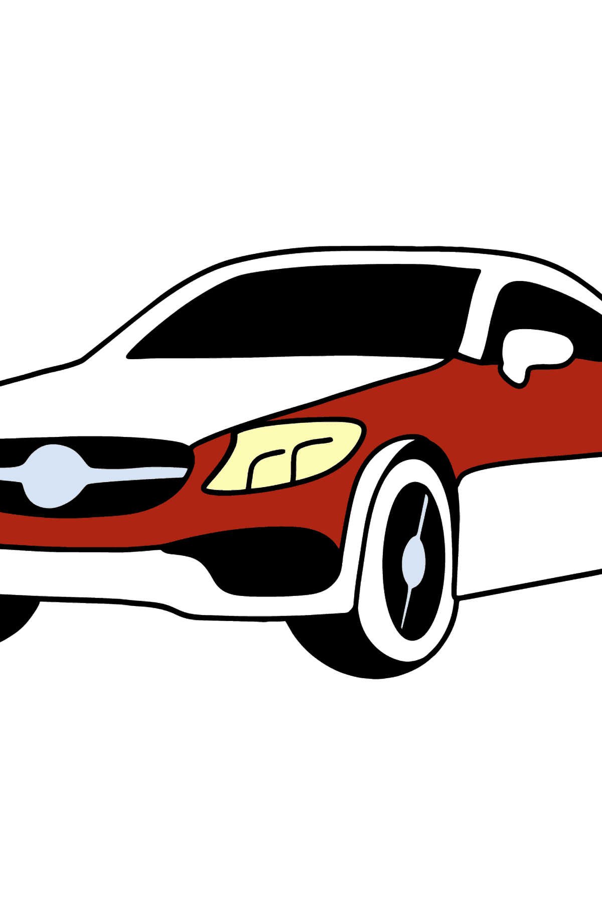 Mercedes C63 AMG car coloring page - Coloring Pages for Kids