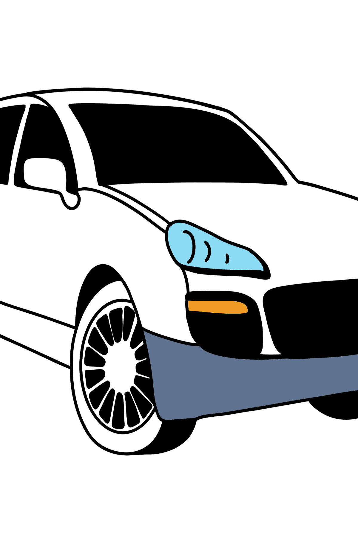Porsche Cayenne Crossover coloring page - Coloring Pages for Kids