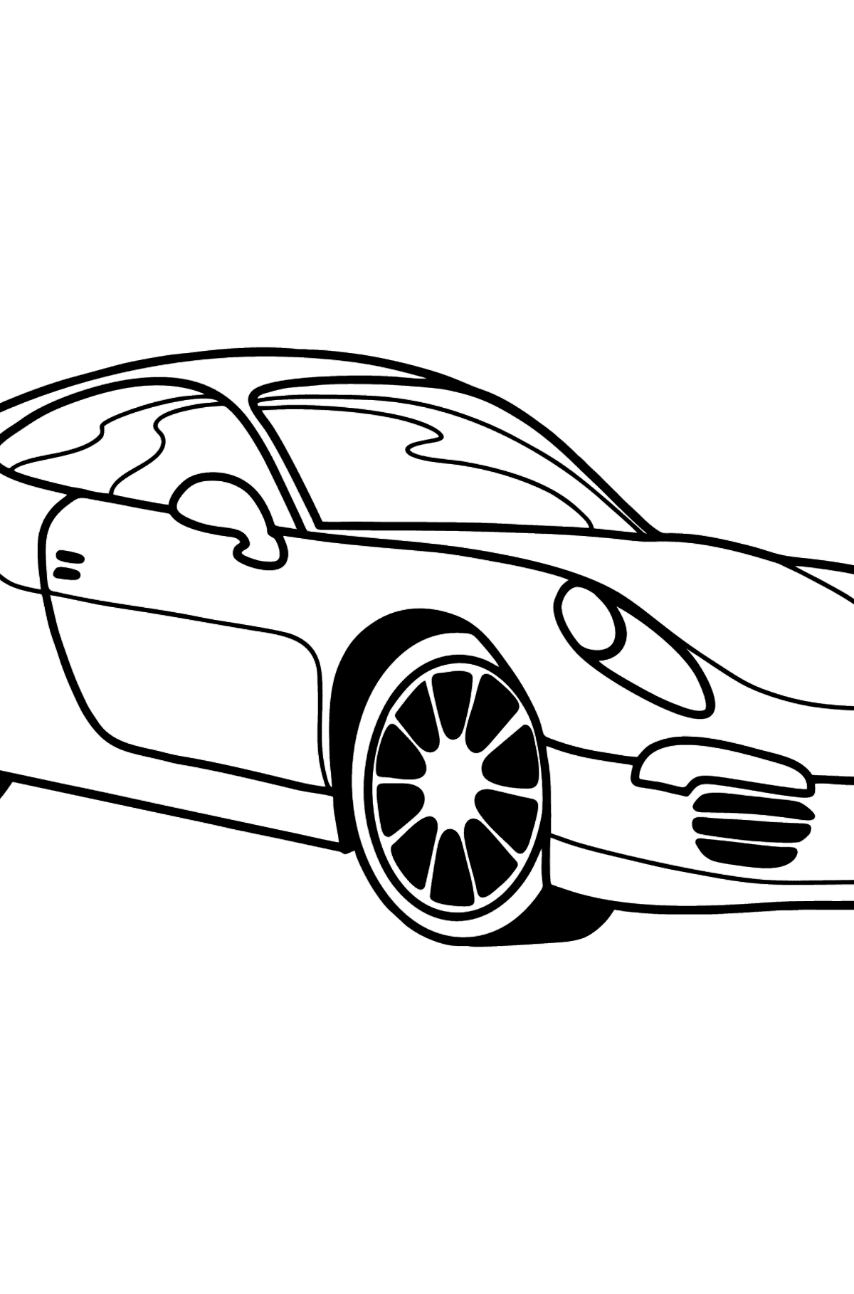 Porsche Cayman Sports Car coloring page - Coloring Pages for Kids