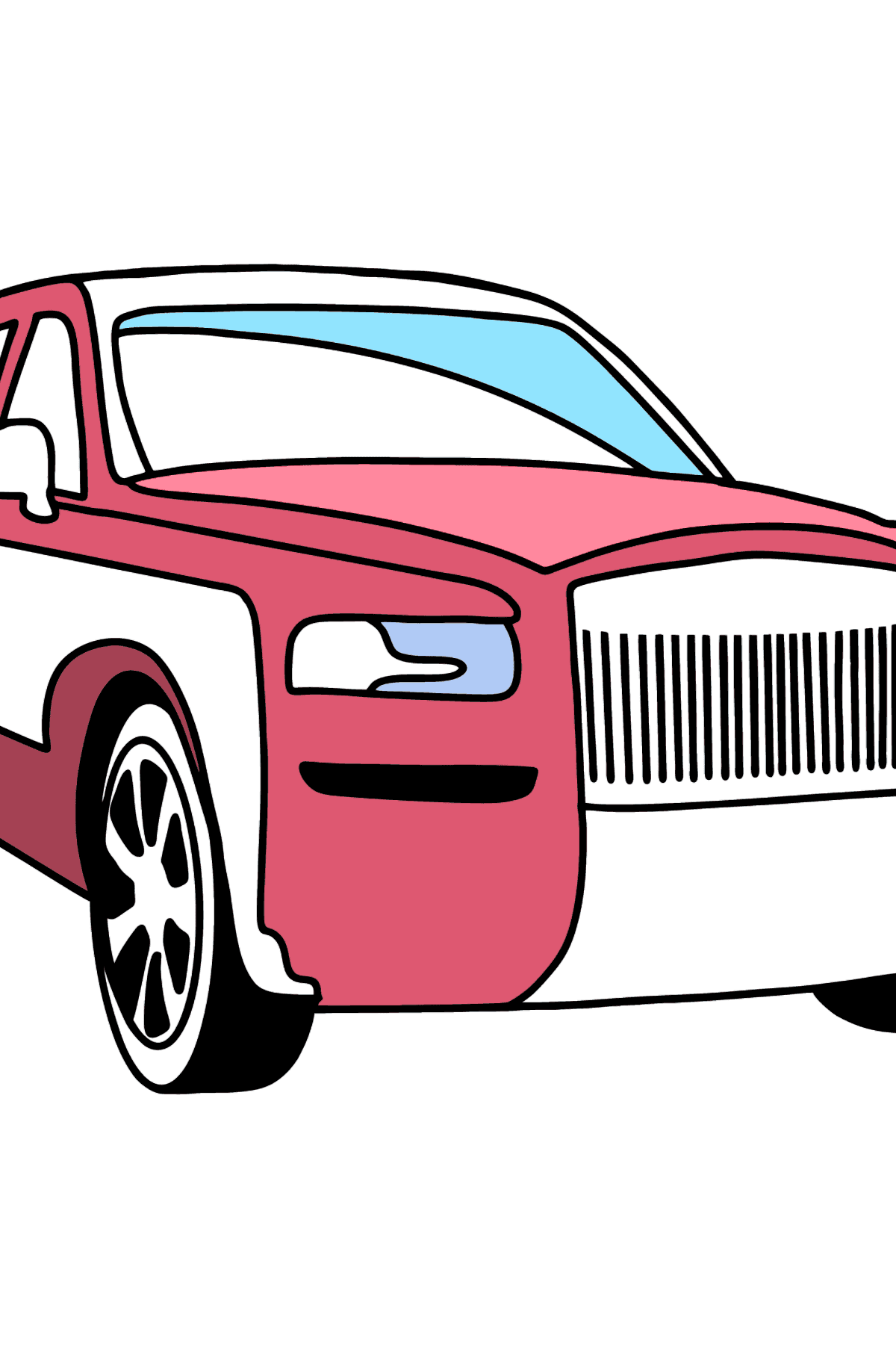Rolls Royce Cullinan Car coloring page - Coloring Pages for Kids