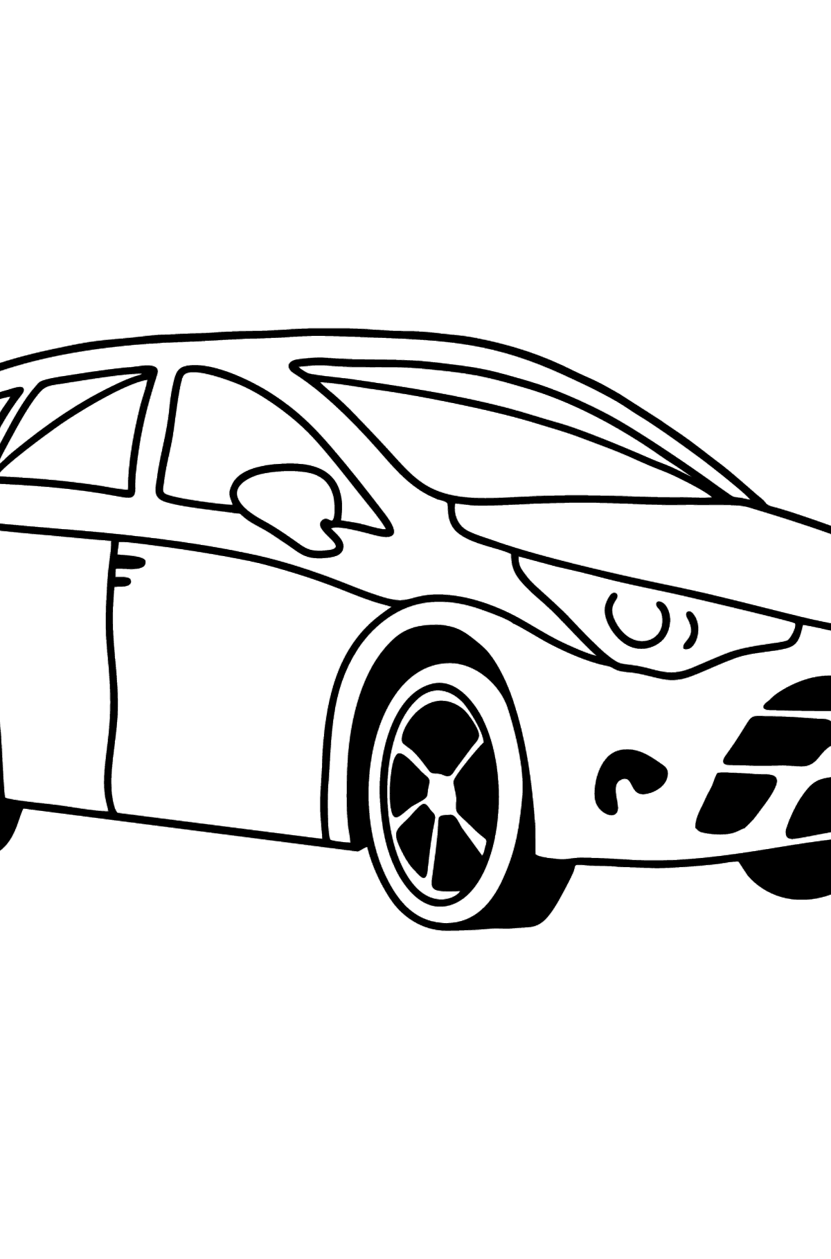 Toyota Avensis Car coloring page - Coloring Pages for Kids