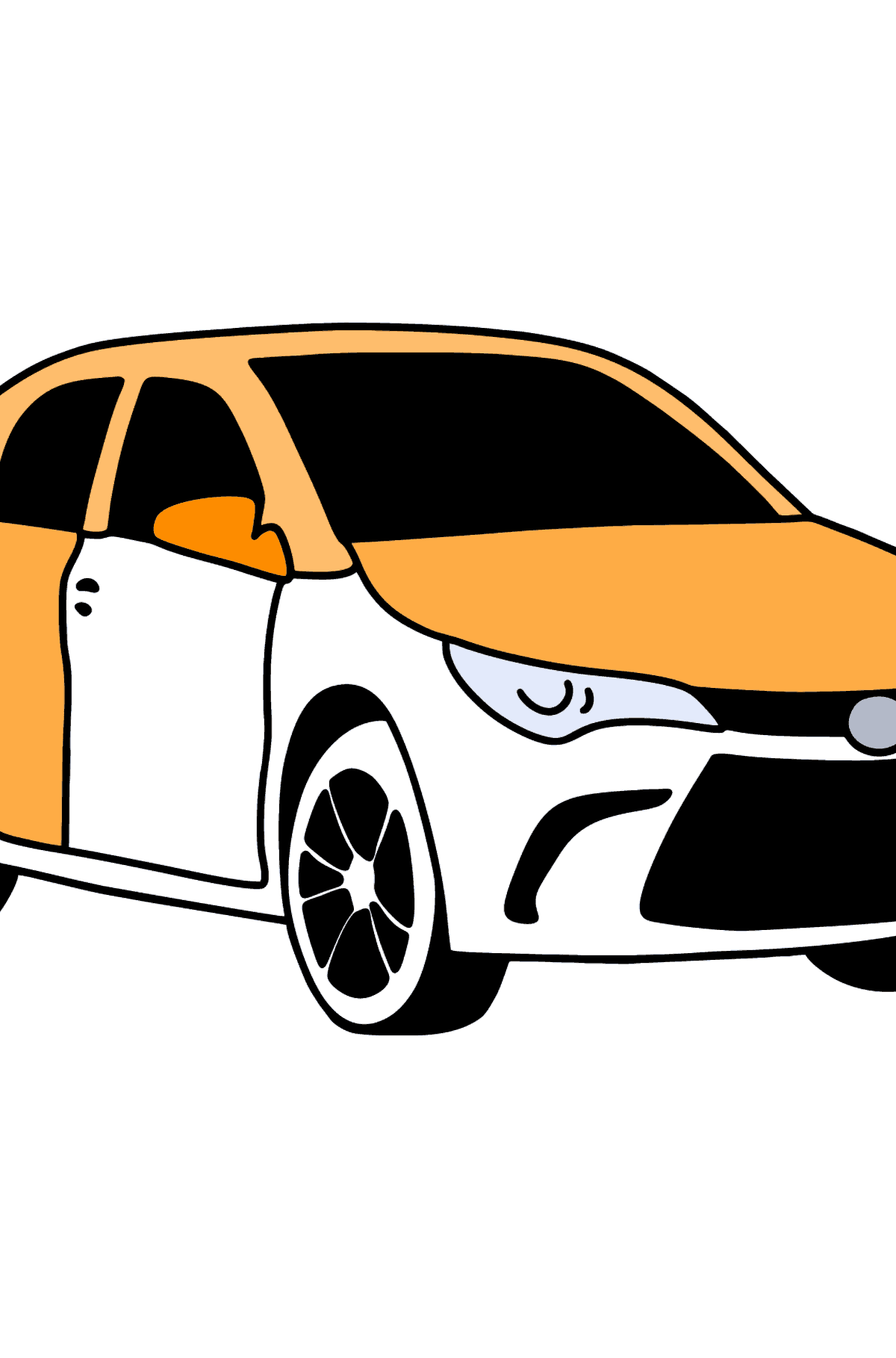 Toyota Camry coloring page - Coloring Pages for Kids