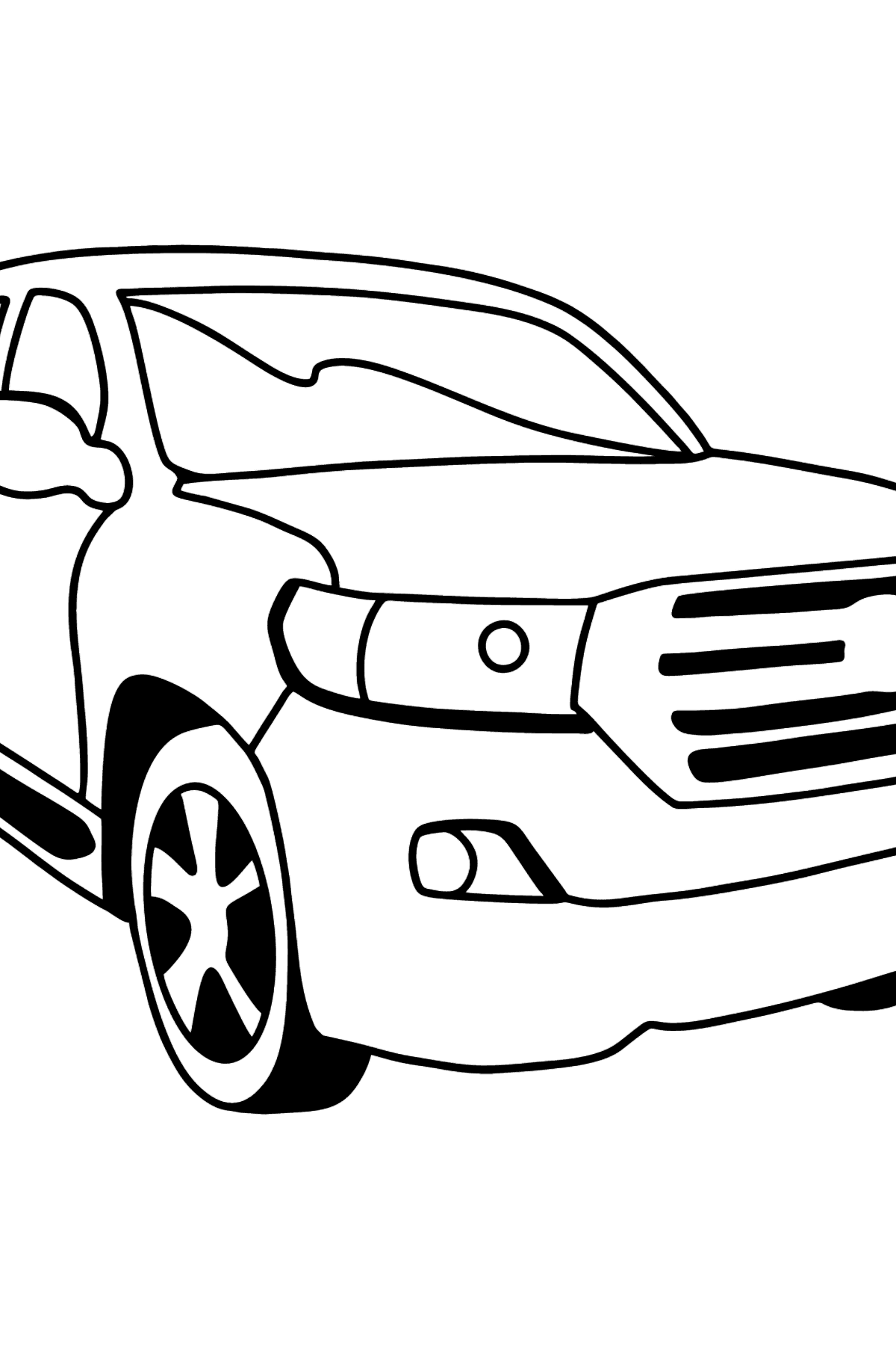 Toyota Land Cruiser Car coloring page - Coloring Pages for Kids