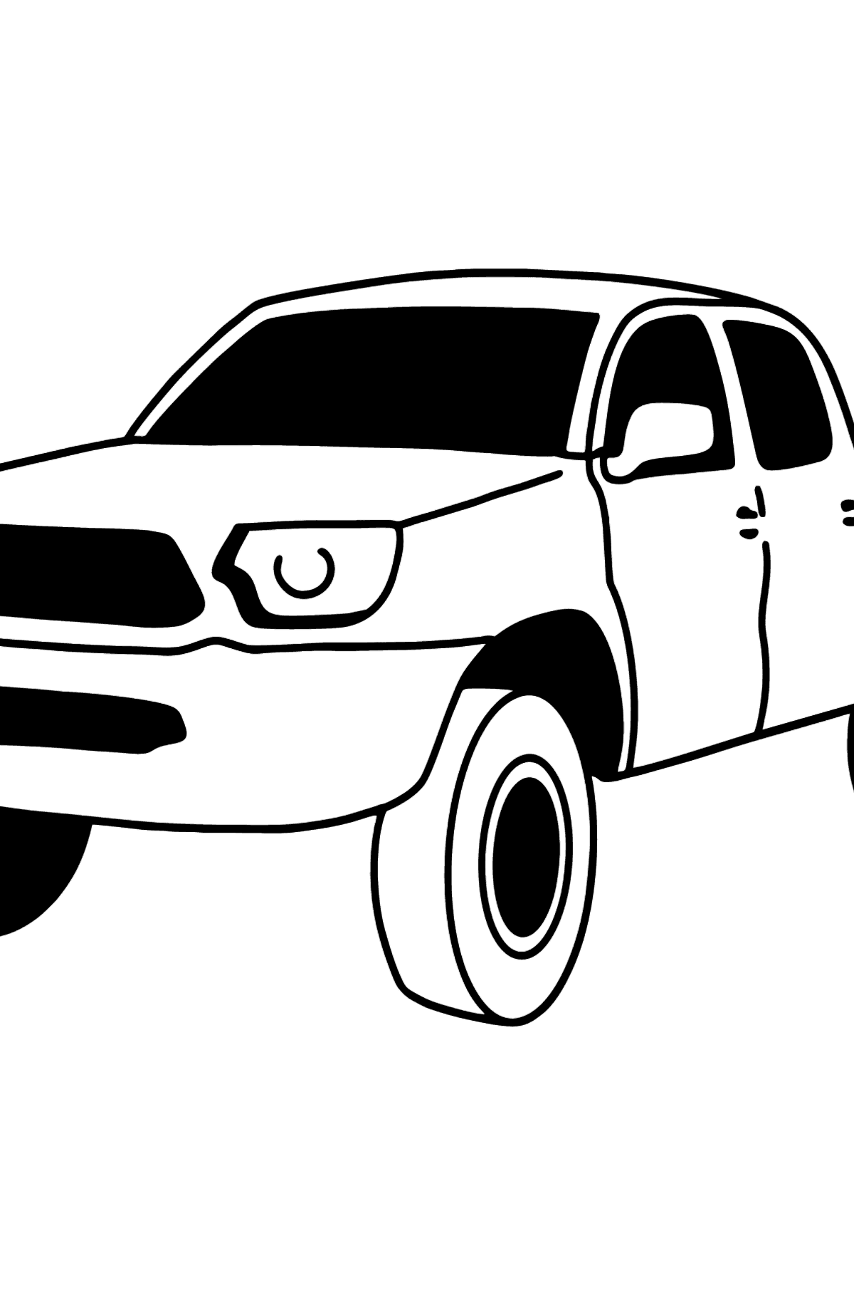 Toyota Tacoma Pickup Truck coloring page - Coloring Pages for Kids