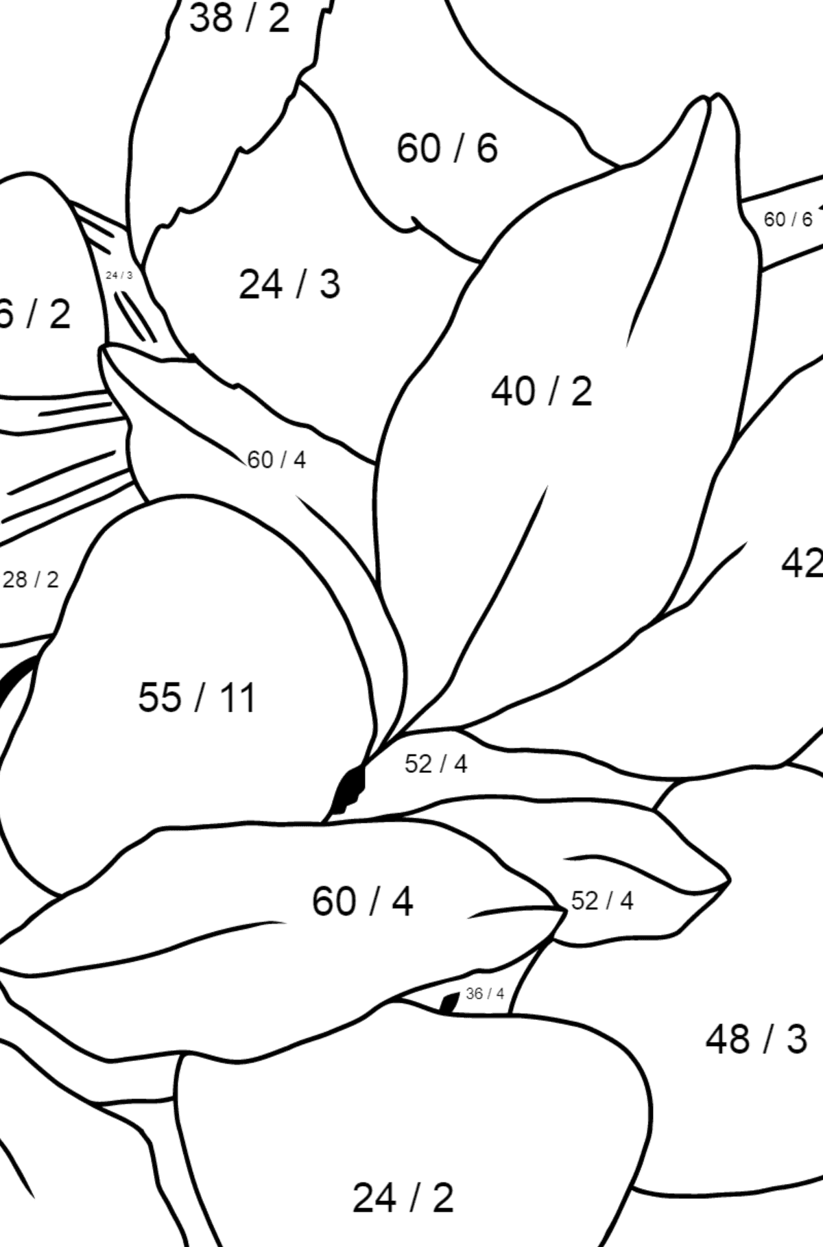 Spring Coloring Page - A Bird will Soon Have Nestlings for Children  - Color by Number Division