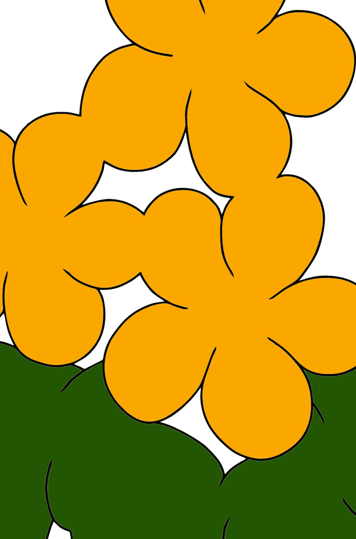 Coloring Page - Spring and First Flowers for Kids  - Color by Number