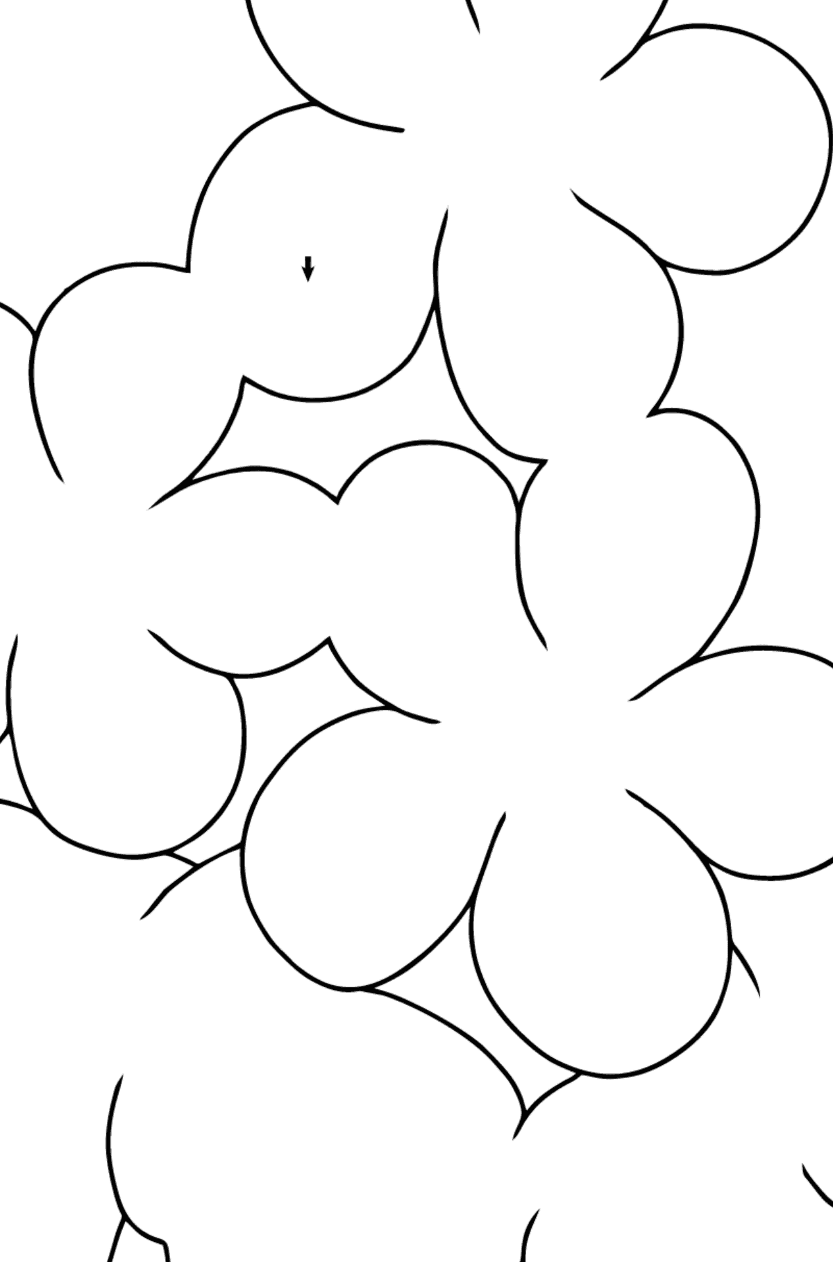 Coloring Page - Spring and First Flowers for Children  - Color by Symbols and Geometric Shapes