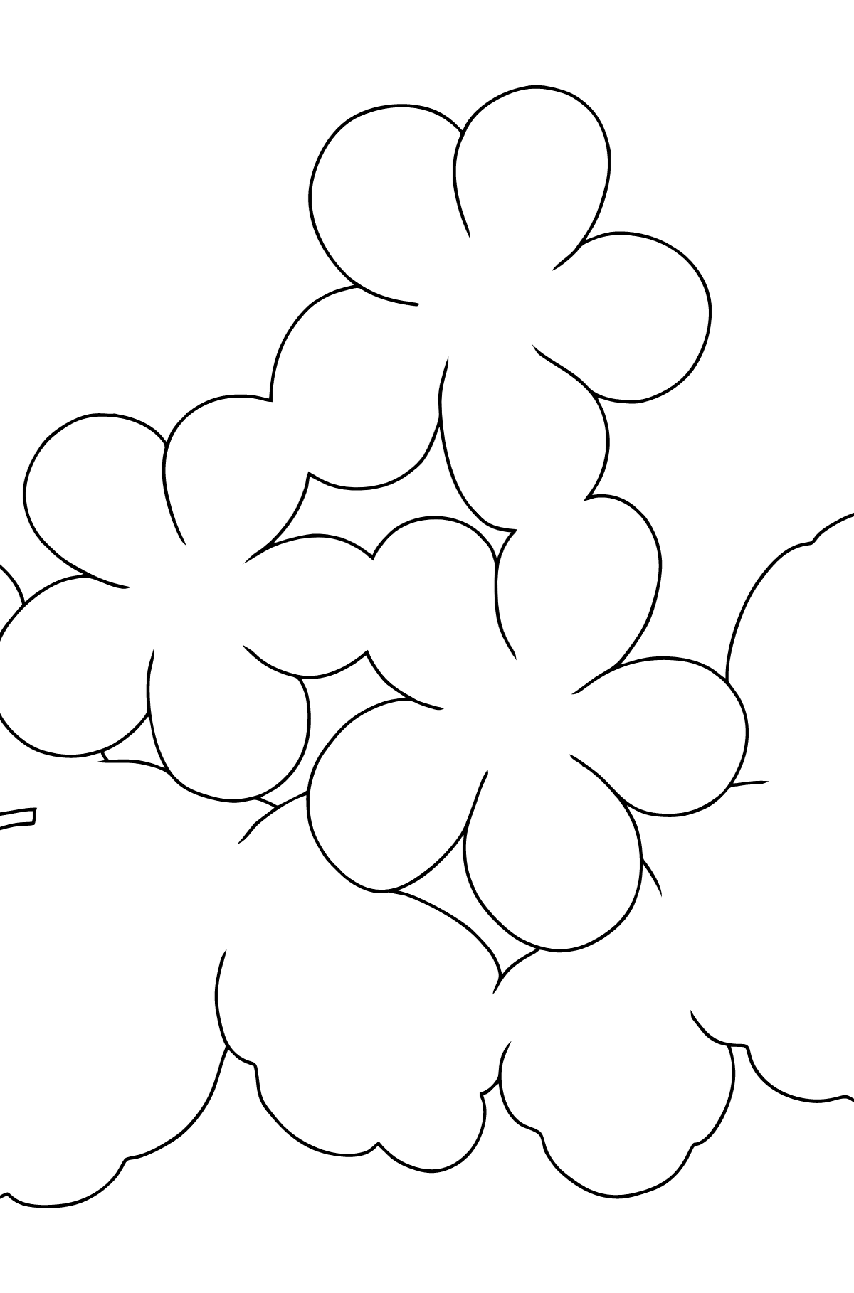 Coloring Page - Spring and First Flowers for Kids