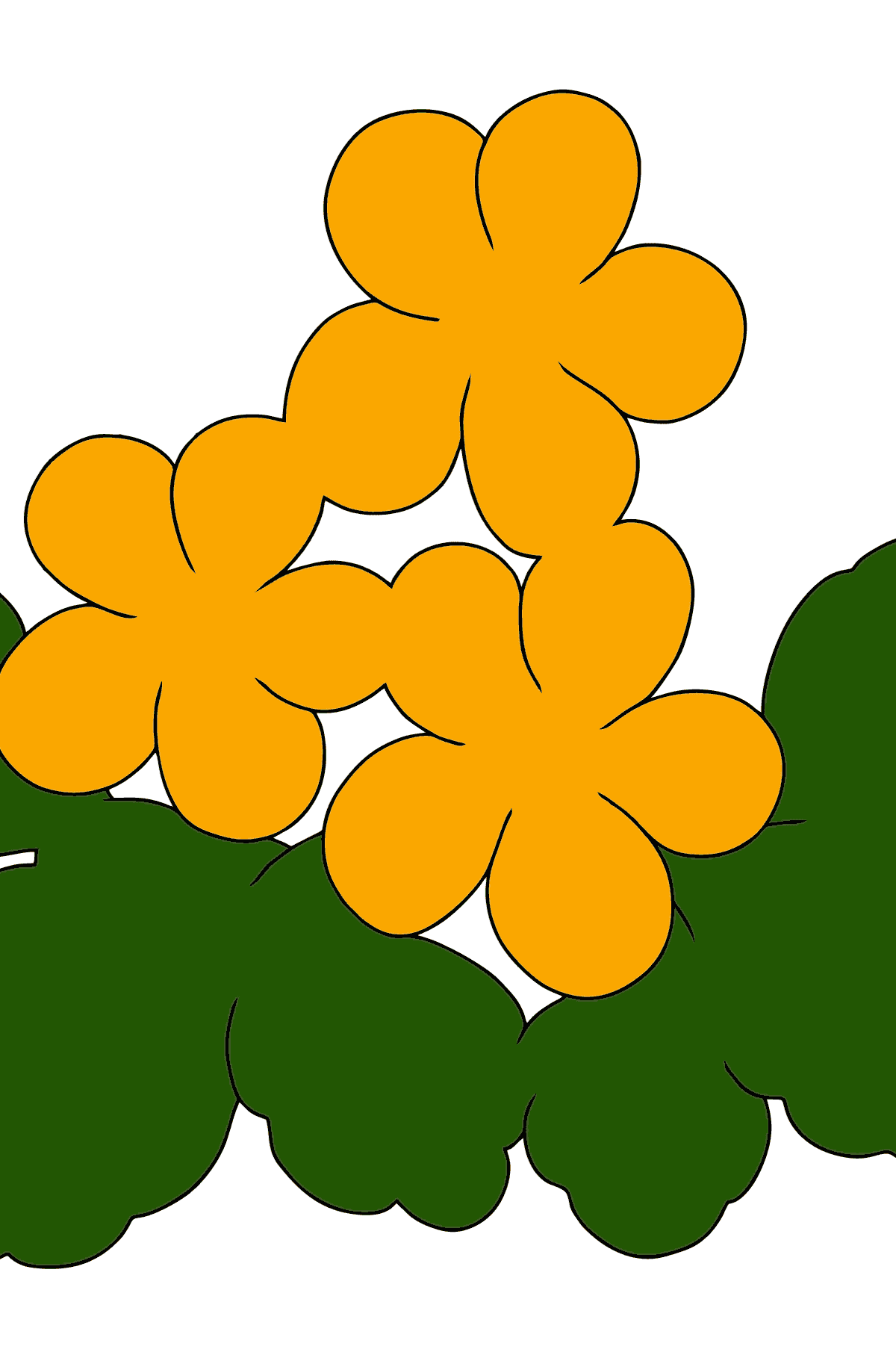 Coloring Page - Spring and First Flowers - Coloring Pages for Kids
