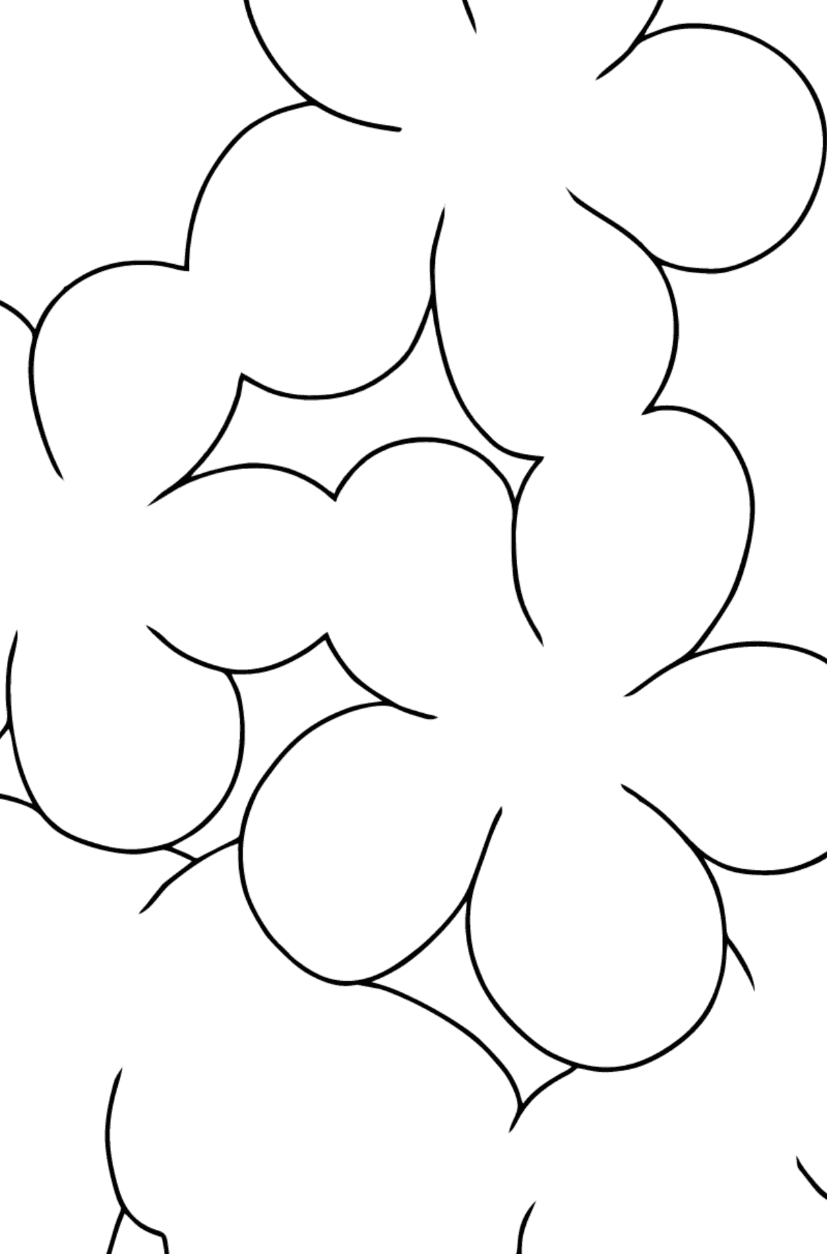 Coloring Page - Spring and First Flowers - Math Coloring - Subtraction for Kids