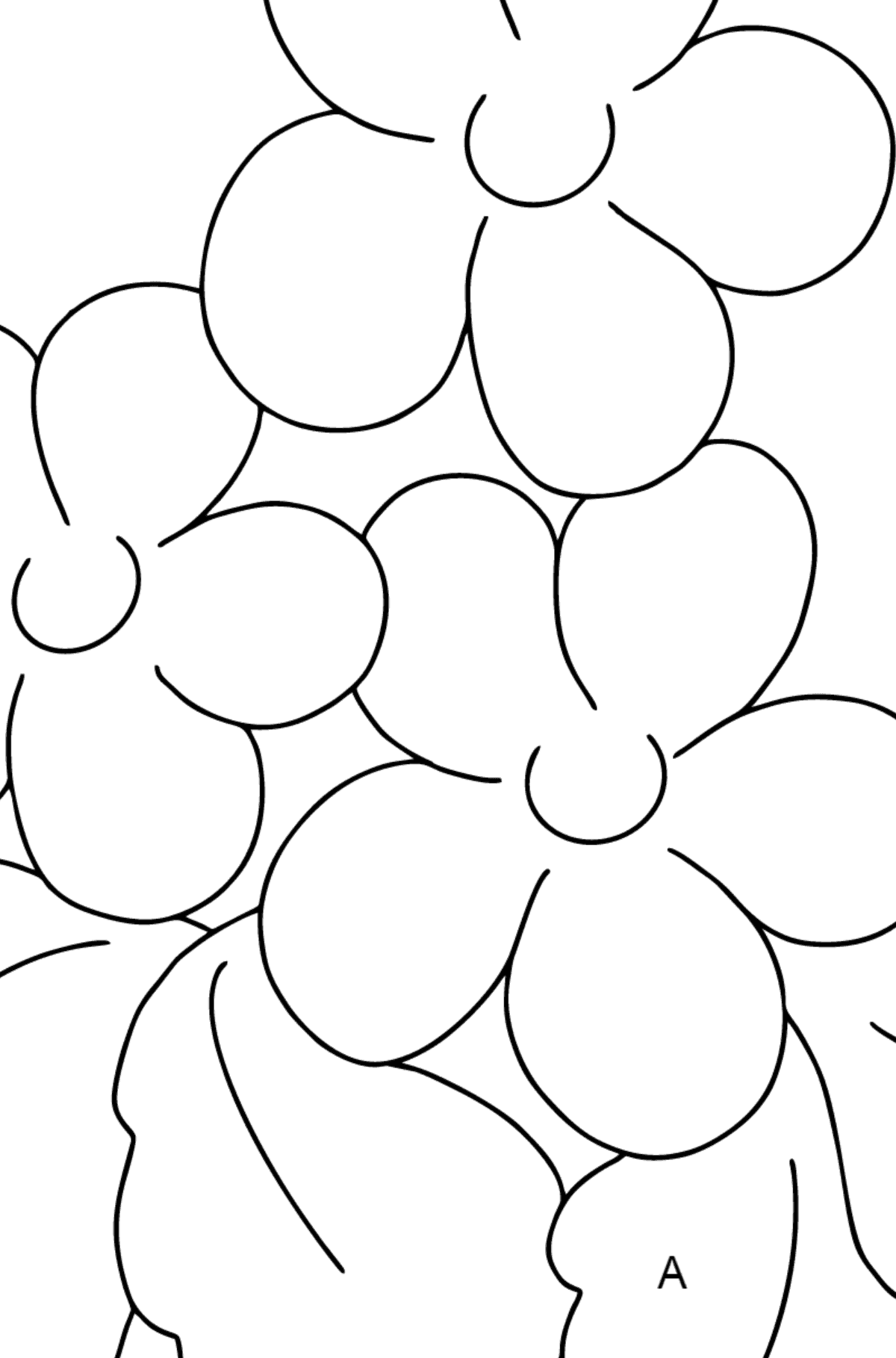 Coloring Page - Spring and Flowers - Math Coloring - Addition for Children
