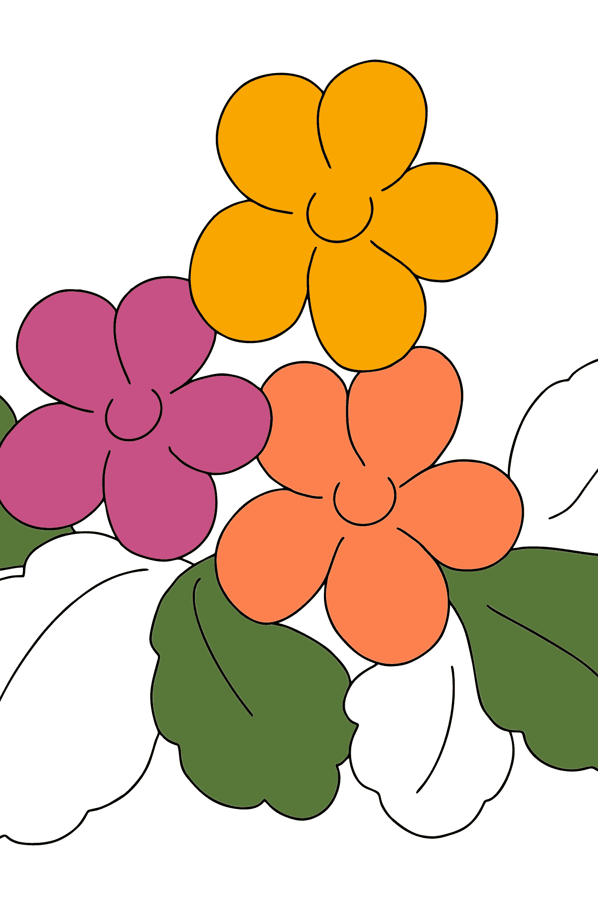 Coloring Page - Spring and Flowers - Coloring Pages for Kids