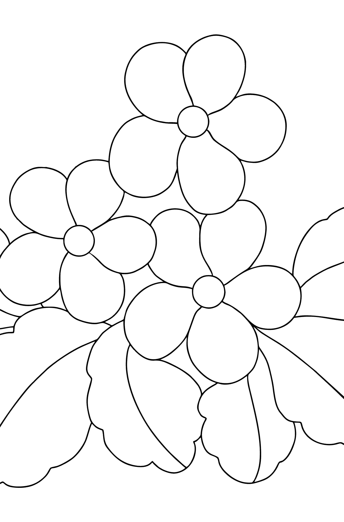 Spring Coloring Page - Time for Flowers for Children