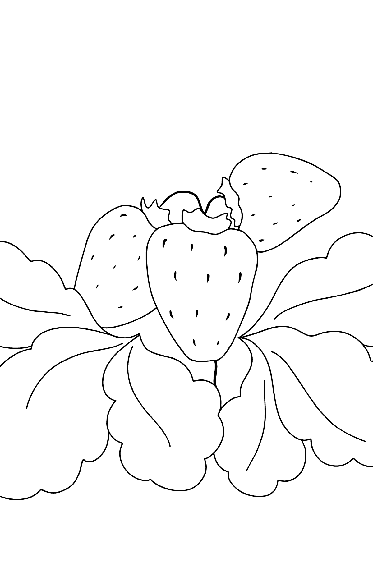 Coloring Page - Summer and Strawberries - Coloring Pages for Kids
