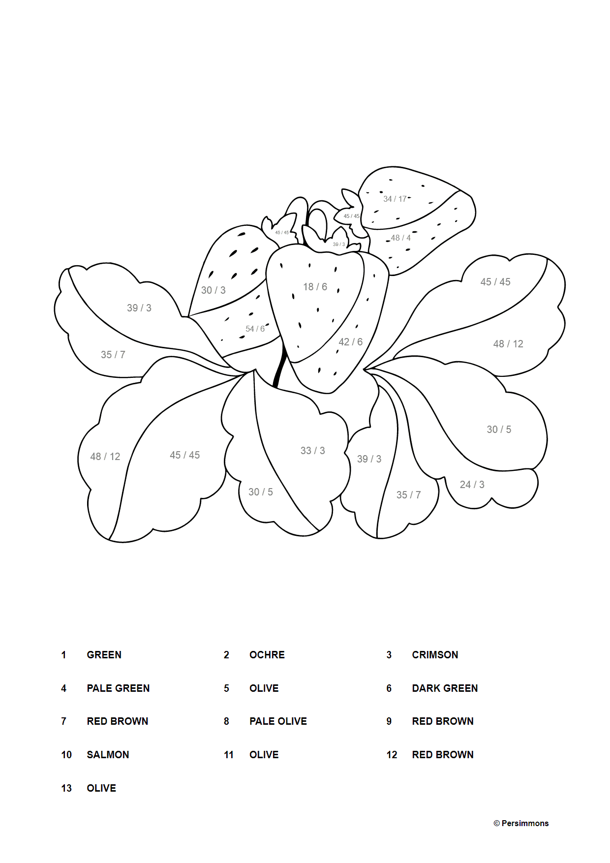 Online Coloring Page Strawberries Are Ready