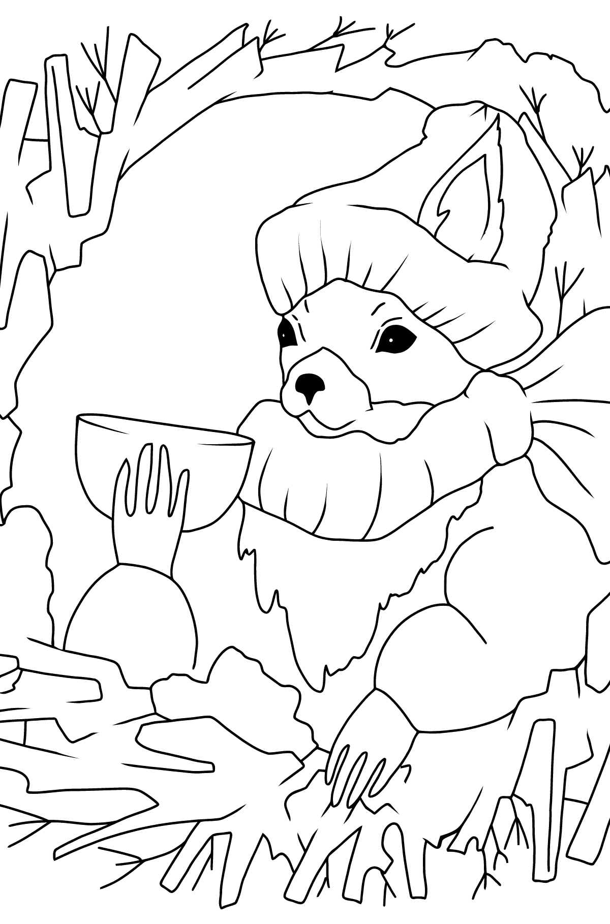 Раскраска Белочка для детей - Картинки для Детей