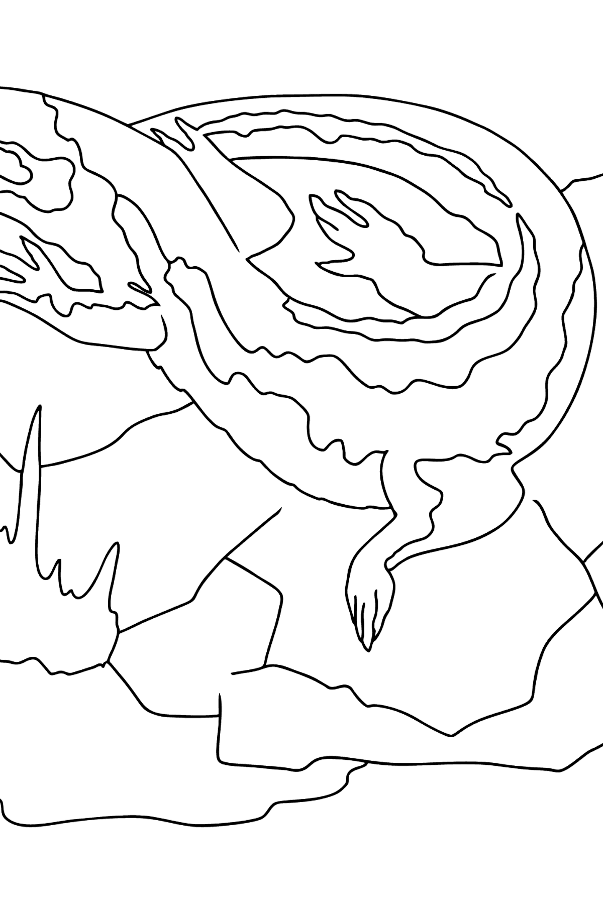 Coloring Page - A Curious Lizard - Coloring Pages for Kids