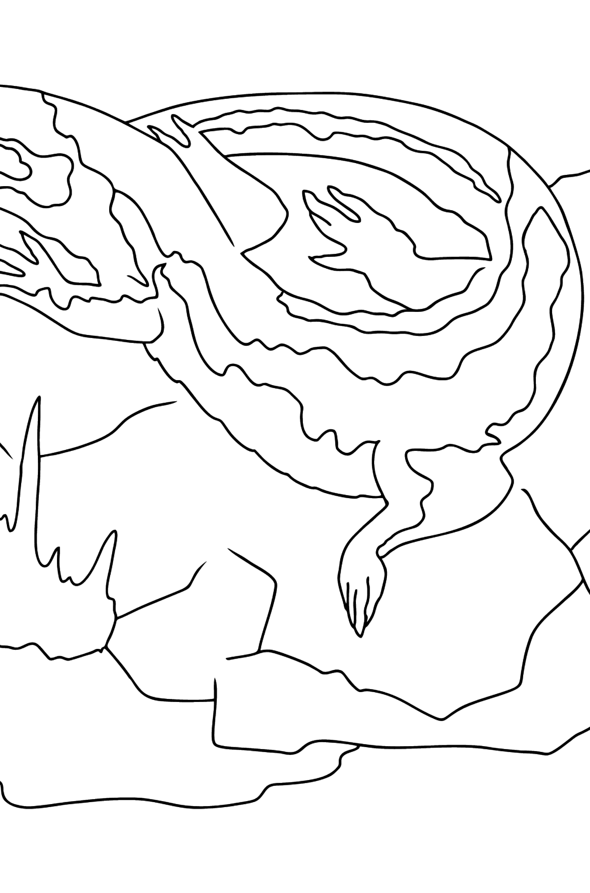 A Lizard is Soaking up the Sun Coloring Page - Coloring Pages for Kids