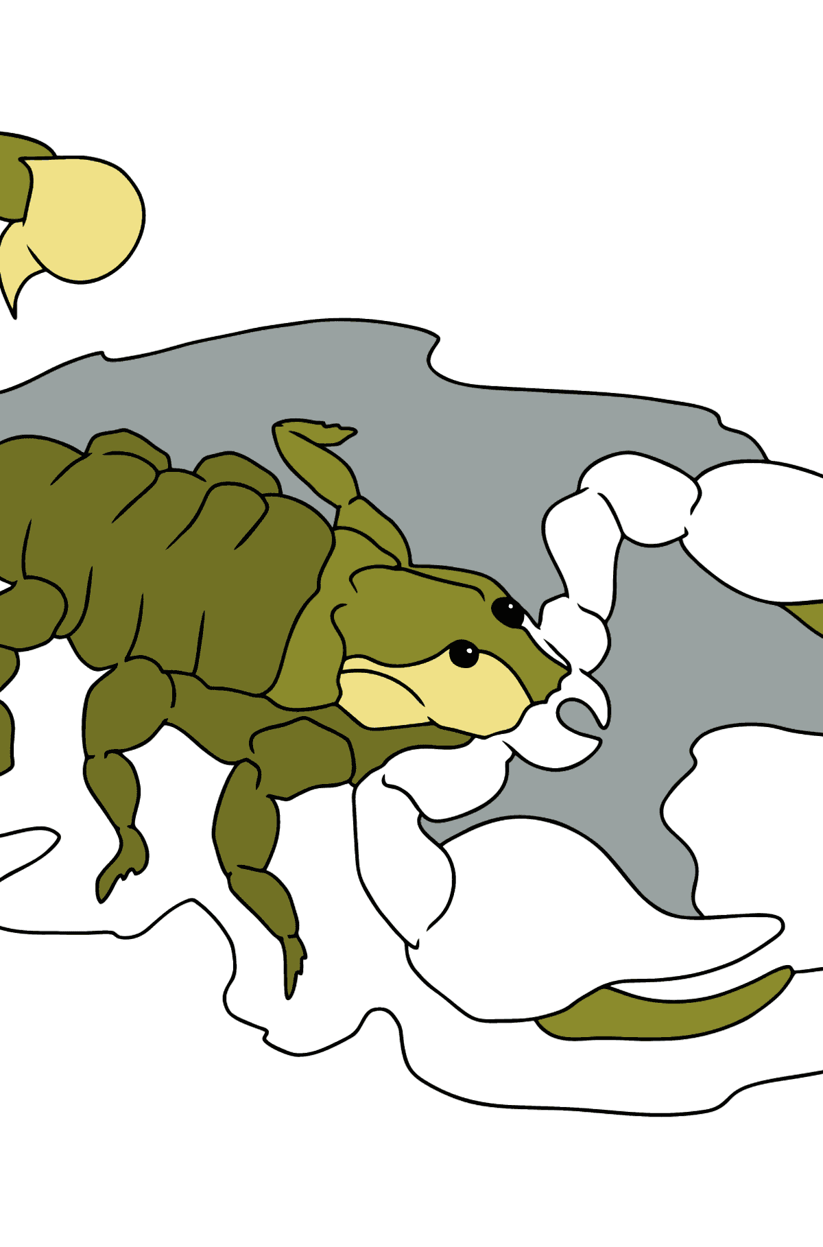 A Poisonous Scorpion Coloring Page - Coloring Pages for Kids