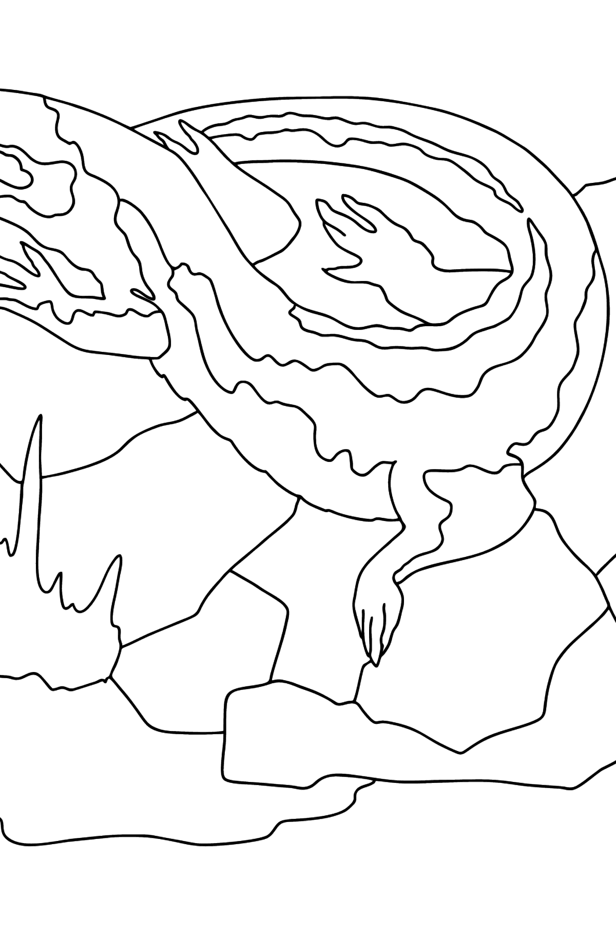 A Quick Lizard Coloring Page - Coloring Pages for Kids
