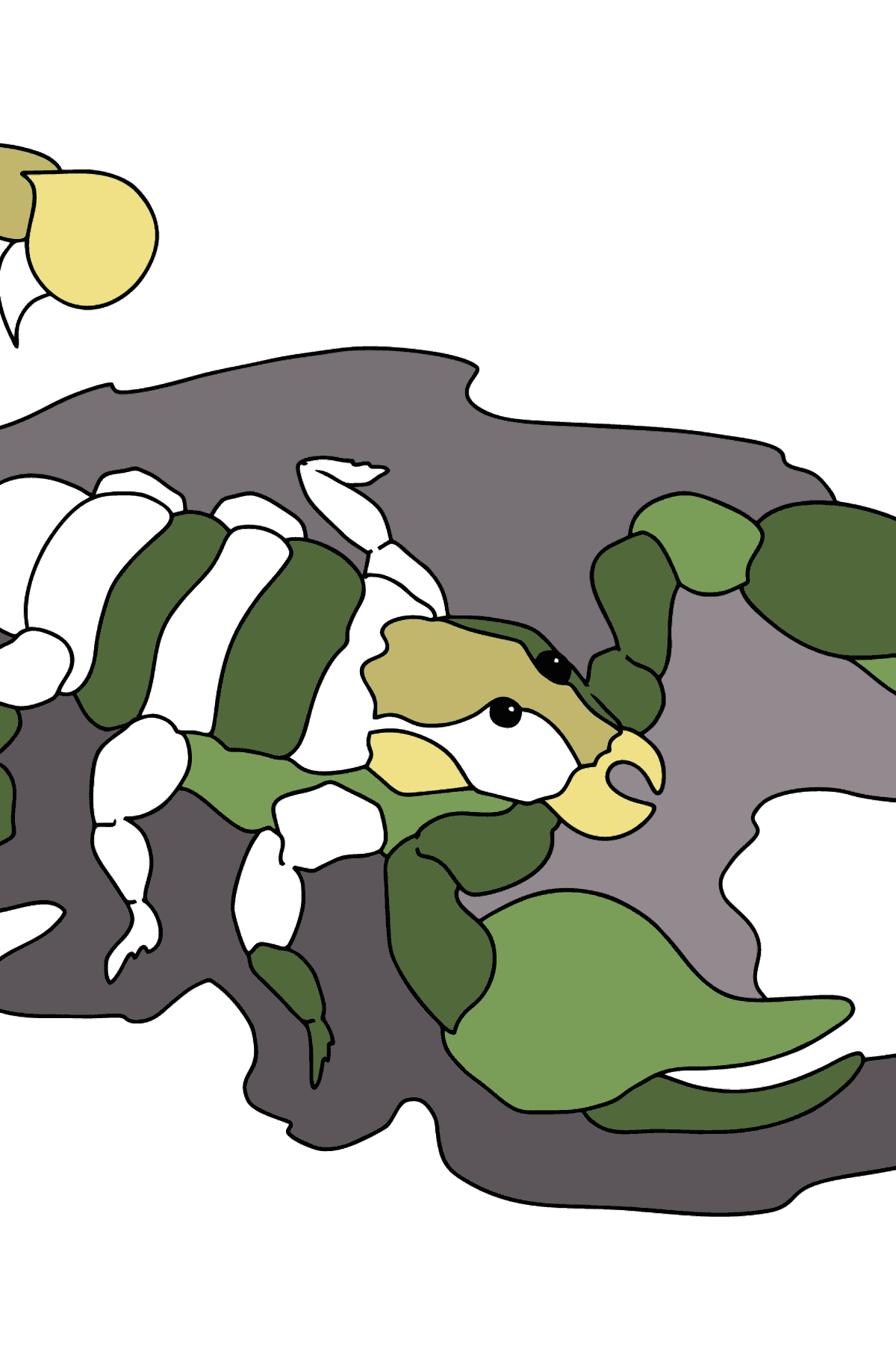 A Scorpion Coloring Page  - Coloring Pages for Kids
