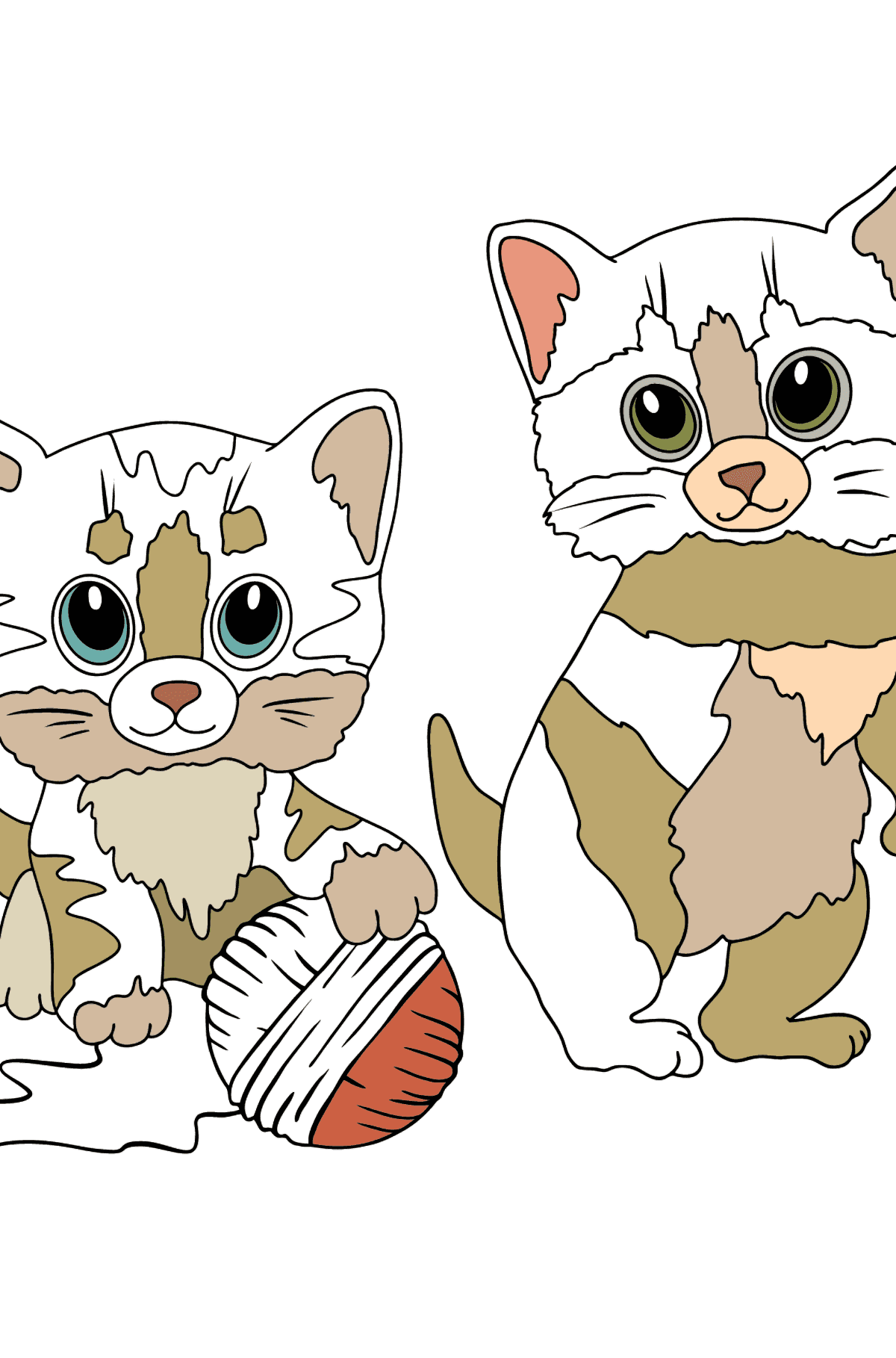 Coloring Page - Kitty Cat - Coloring Pages for Kids