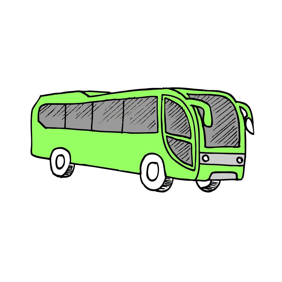 Раскраска автобус отдыхает