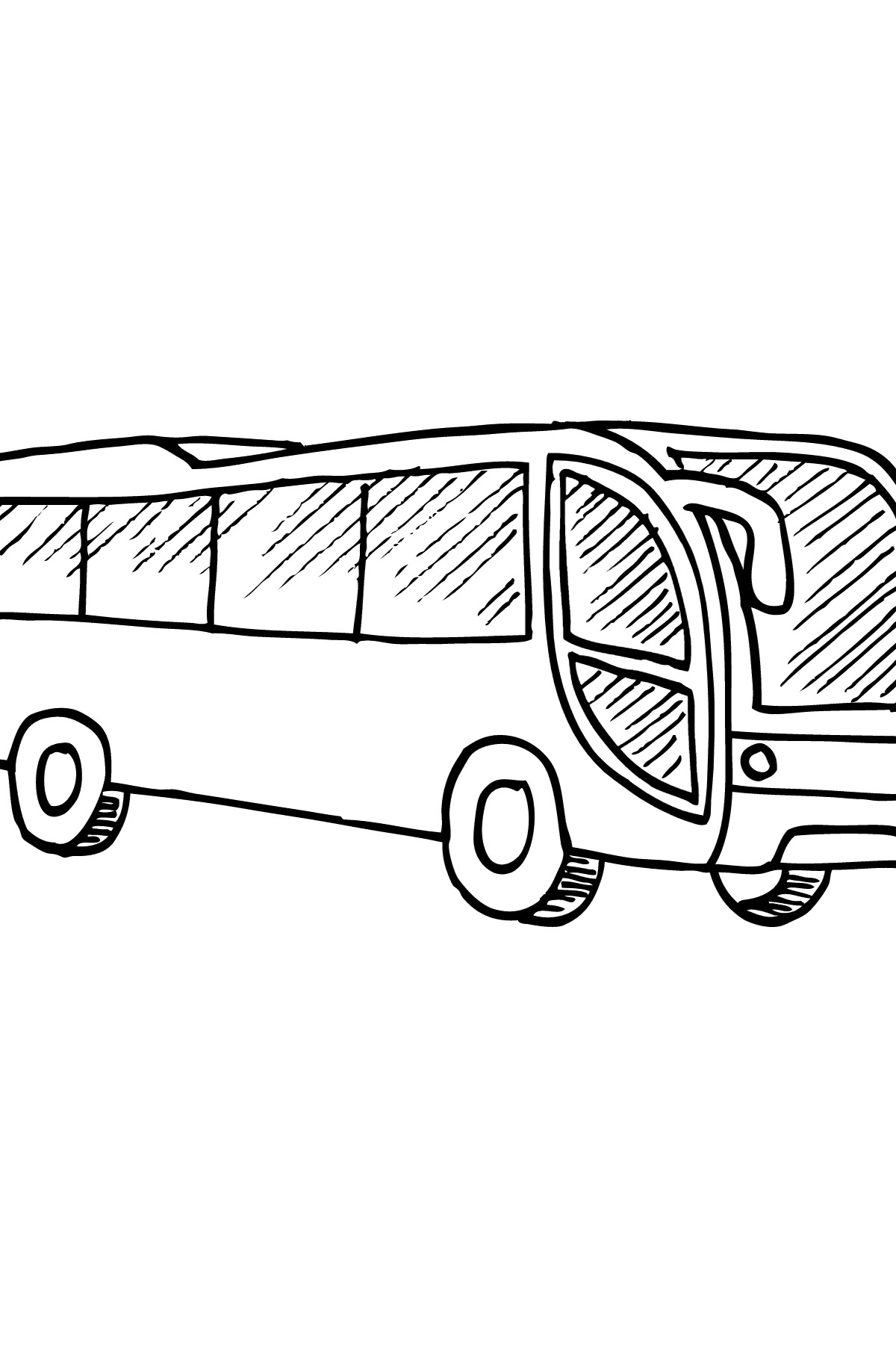 Раскраска Автобус - Картинки для Детей