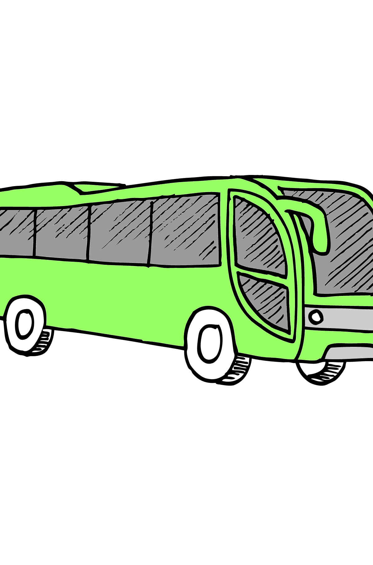 Coloring Page - A Bus is Having Rest - Coloring Pages for Kids