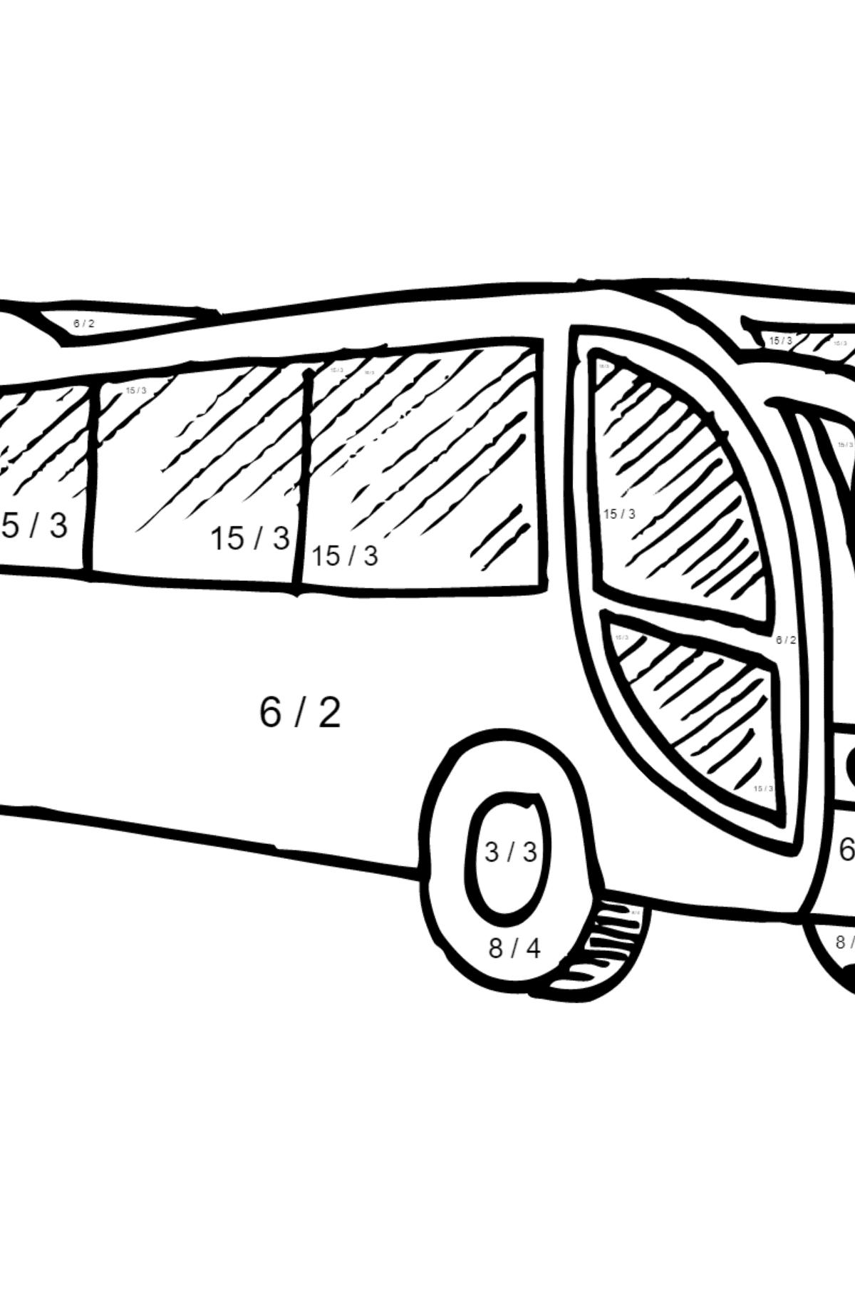 Malvorlage mit Ein Bus - Herunterladen und online ausmalen