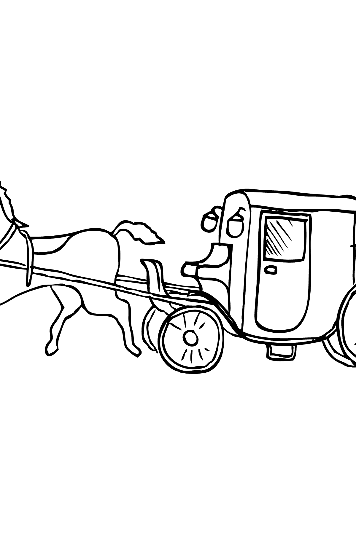 Coloring Page - A Cab - Coloring Pages for Kids
