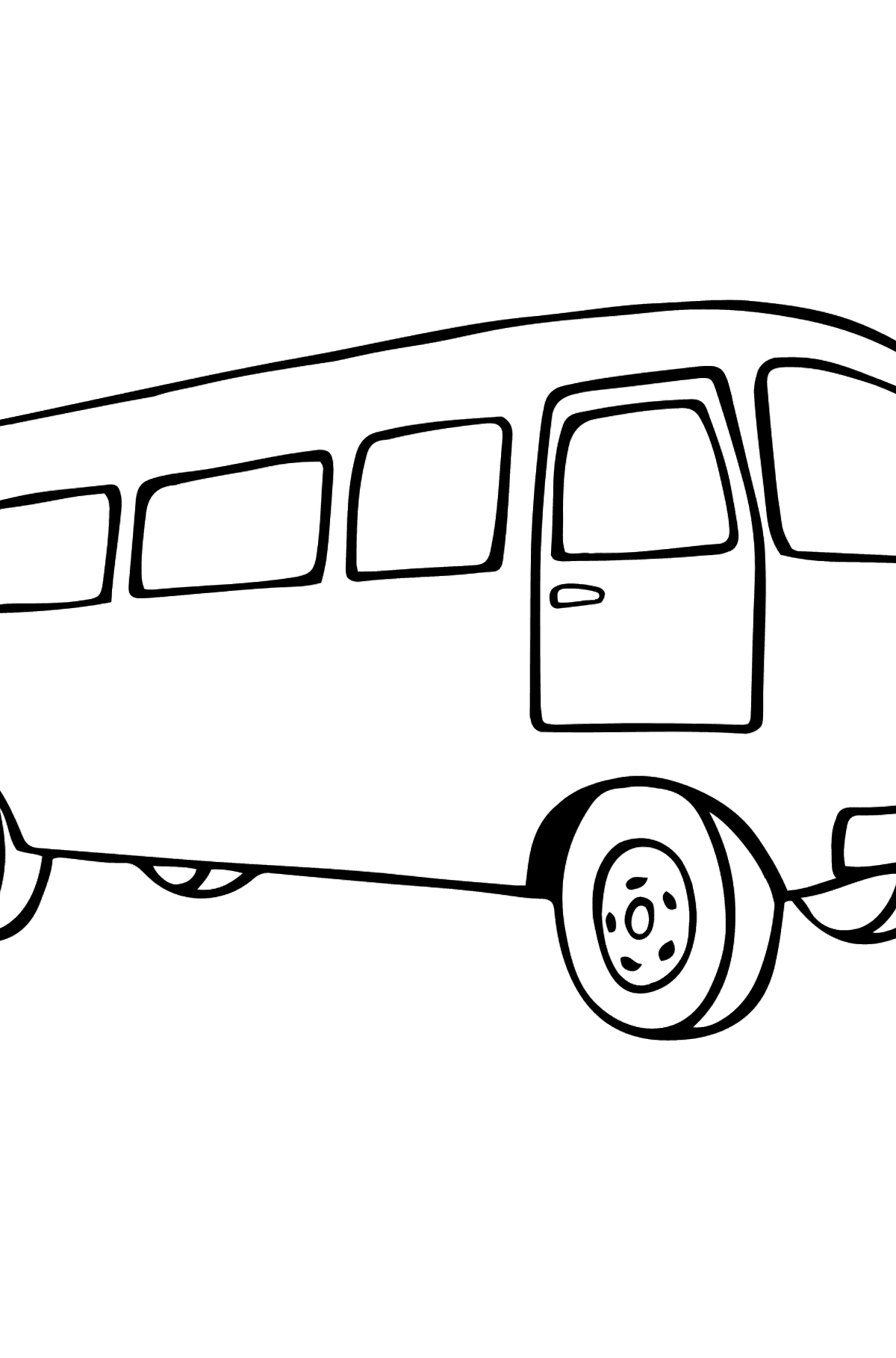Simple Coloring Page - A Joyful Bus - Coloring Pages for Kids