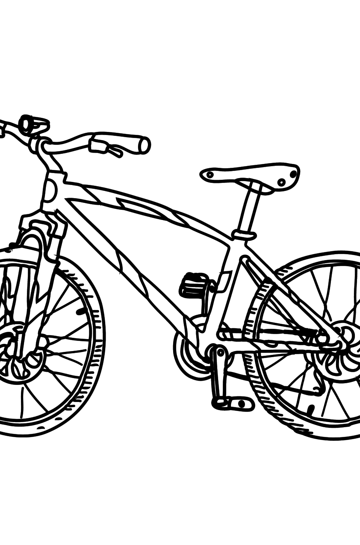 Coloring Page - A Sport Bike - Coloring Pages for Kids