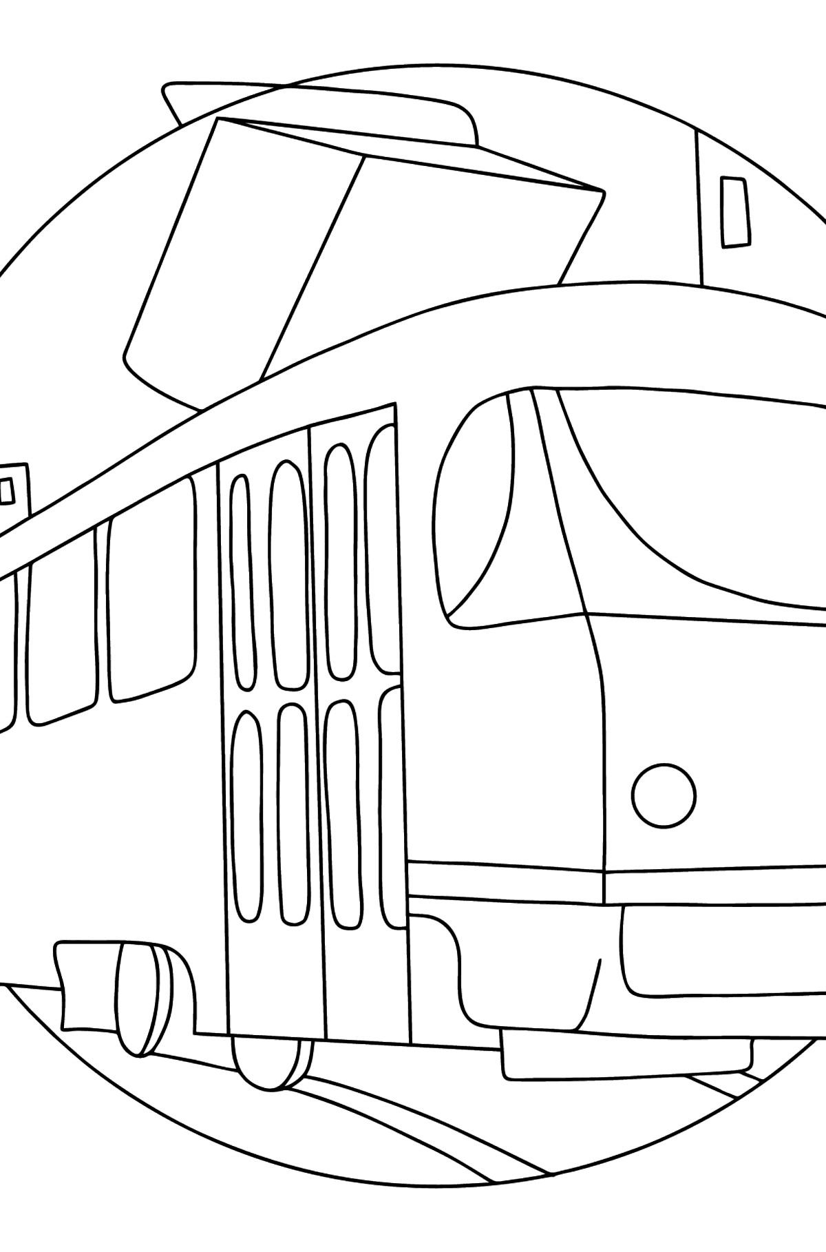 A Tram Coloring Page - Print fo free - Coloring Pages for Kids