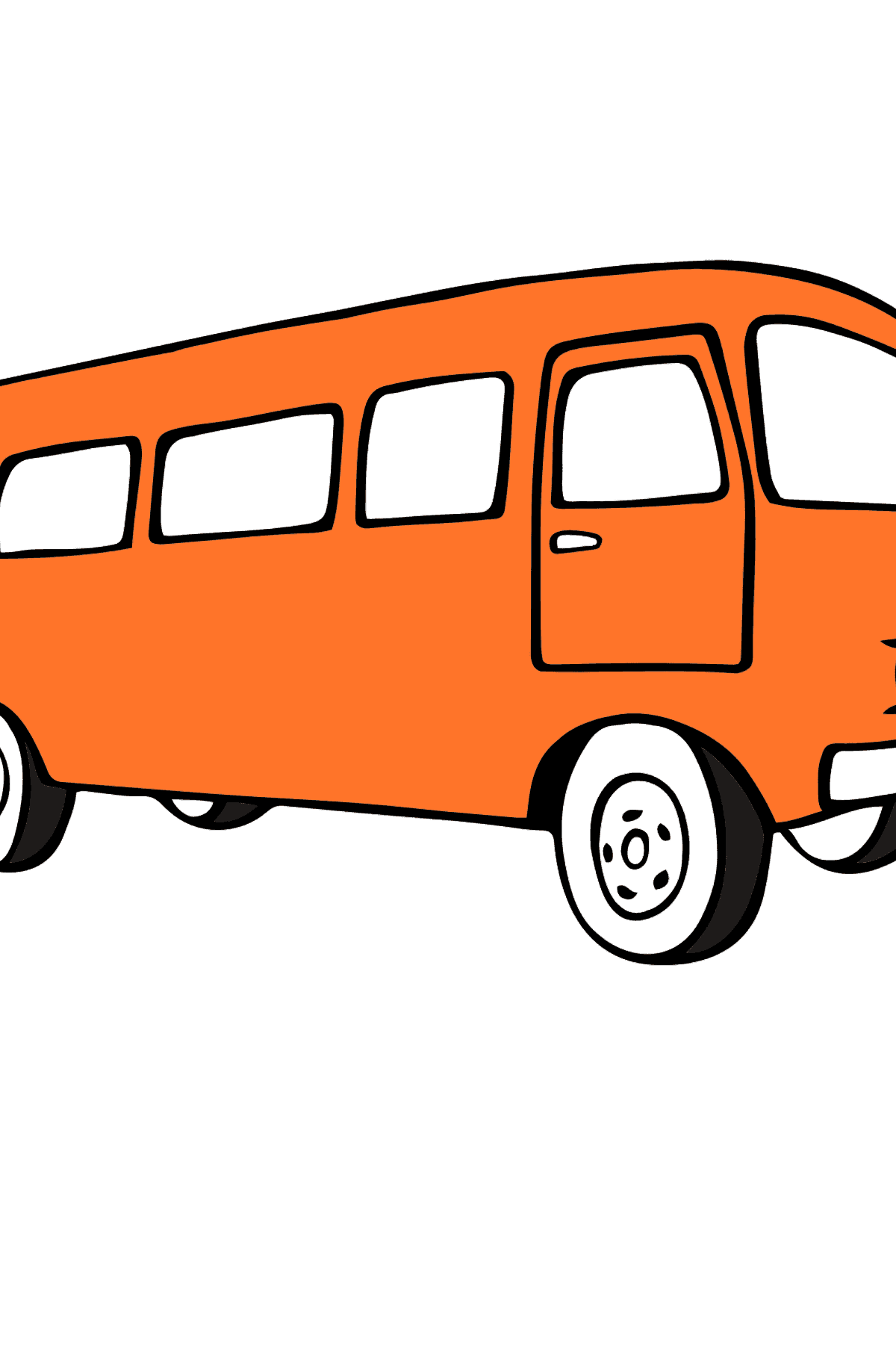Coloring Page - A Traveling Bus - Coloring Pages for Kids