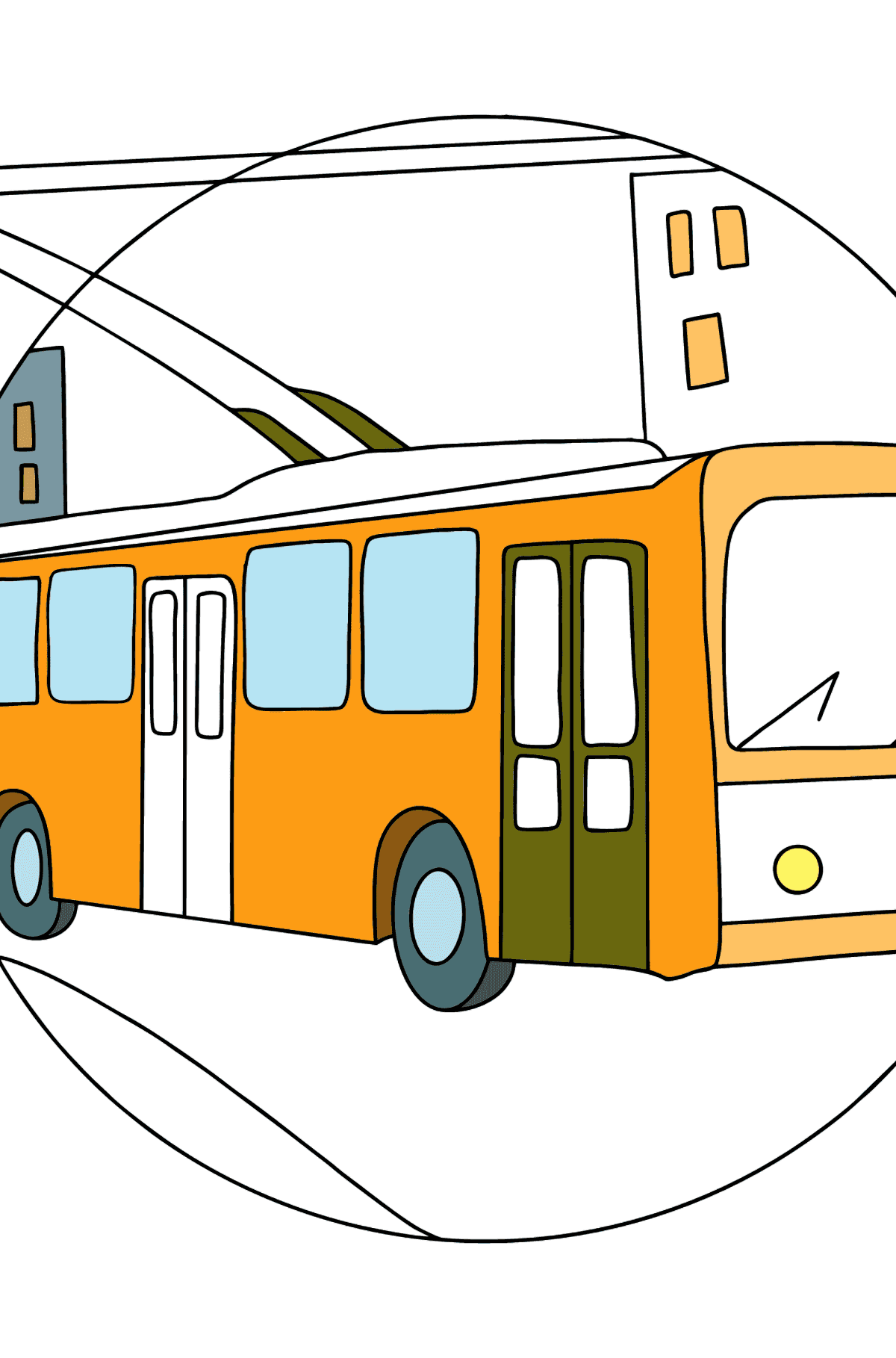 Сoloring page Trolley Bus - Coloring Pages for Kids