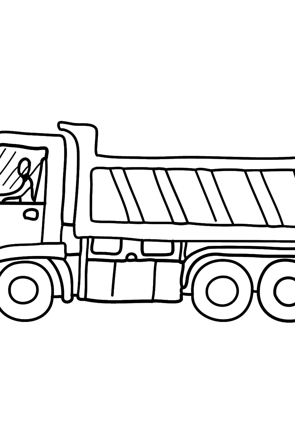 Раскраска самосвал - Картинки для Детей